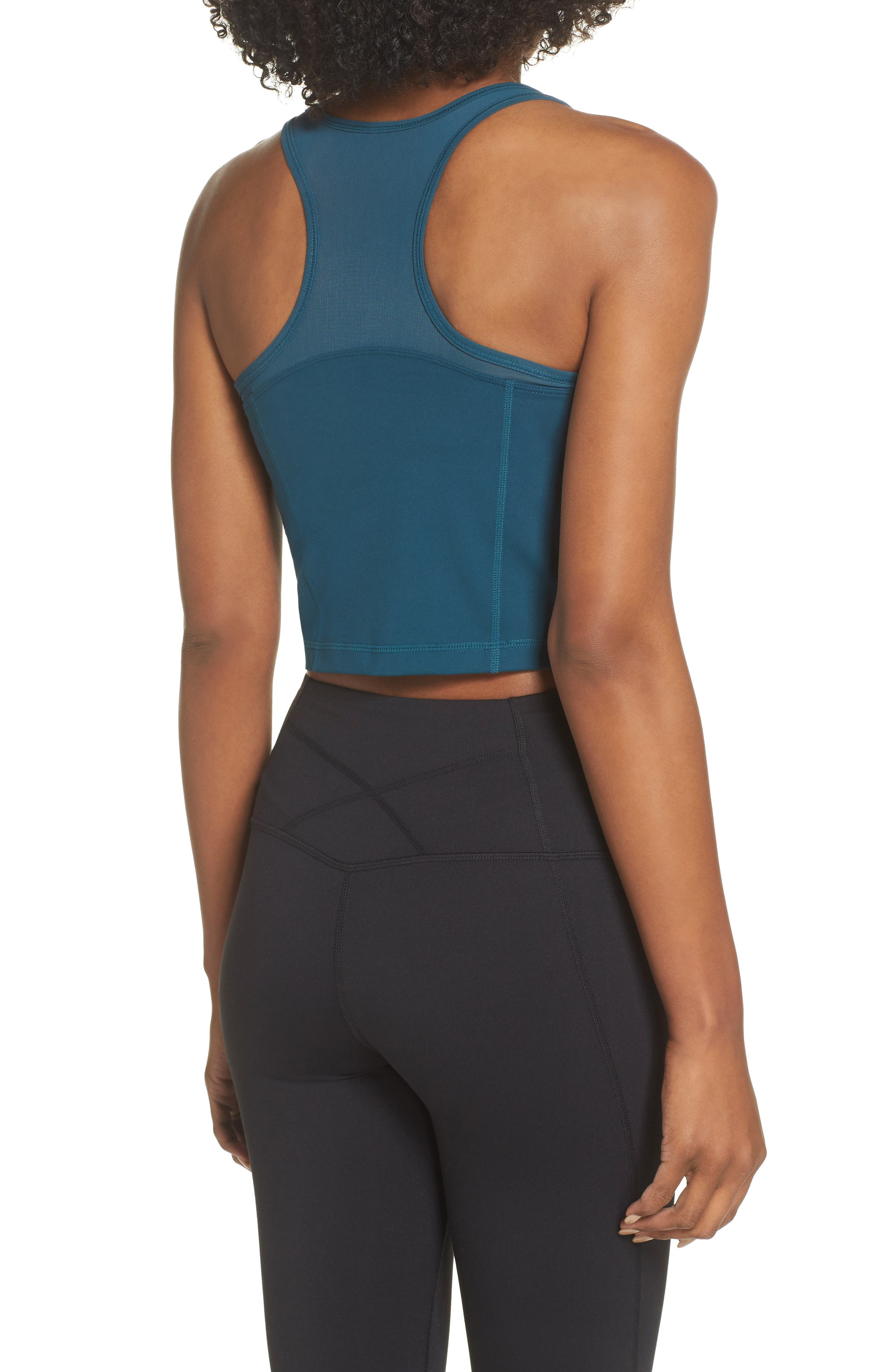 Vivian Crop Tank,                             Alternate thumbnail 2, color,                             TEAL ABYSS