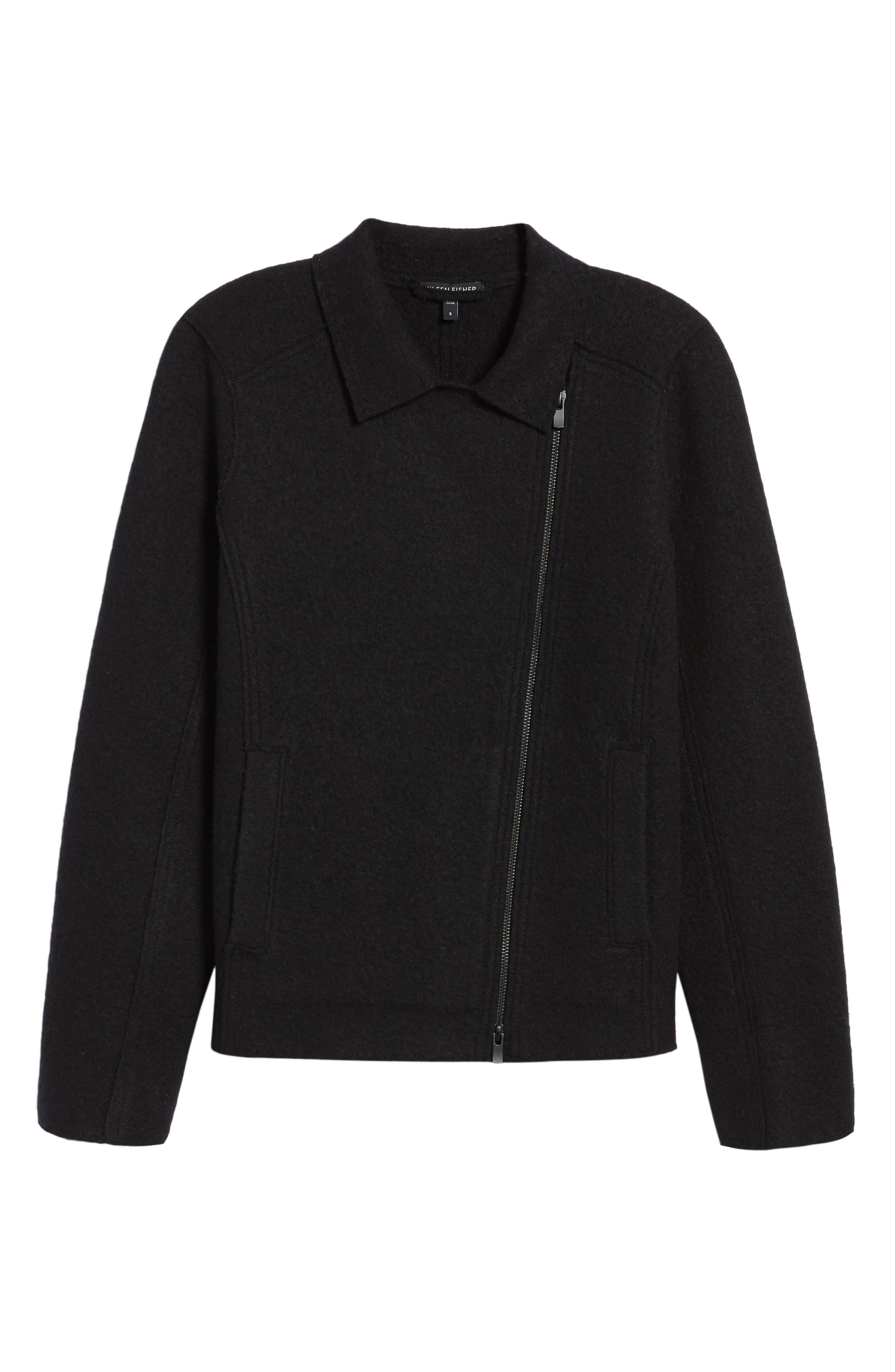 Boiled Wool Moto Jacket,                             Alternate thumbnail 17, color,