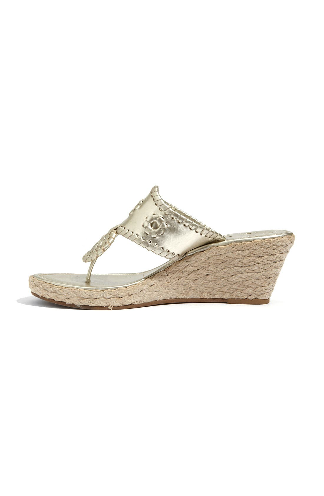 'Marbella' Rope Wedge Sandal,                             Alternate thumbnail 4, color,                             042
