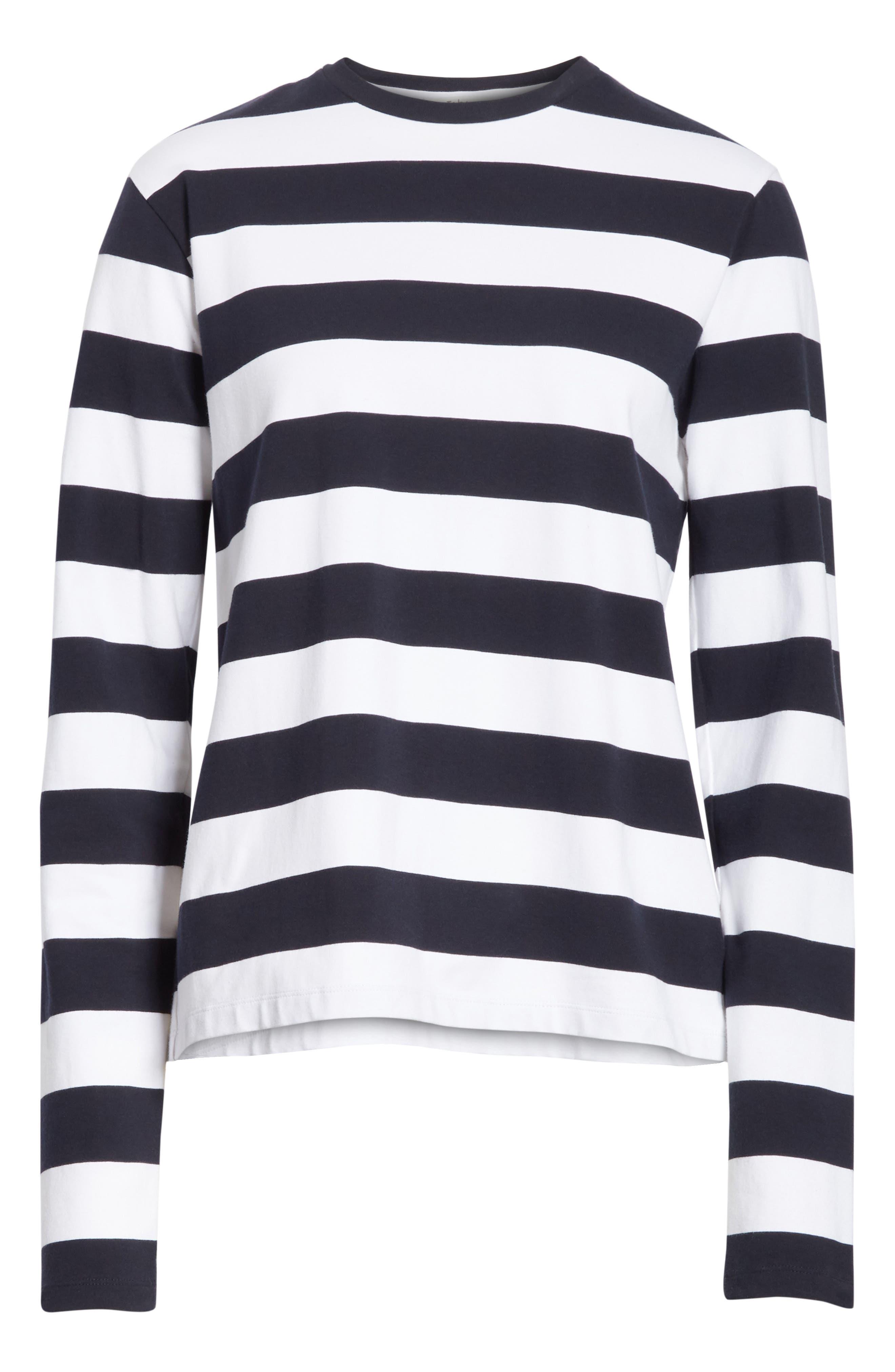 Long Sleeve Stripe Tee,                             Alternate thumbnail 6, color,                             412