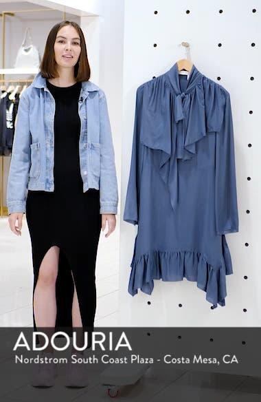 Tie Neck Ruffle Hem Dress, sales video thumbnail