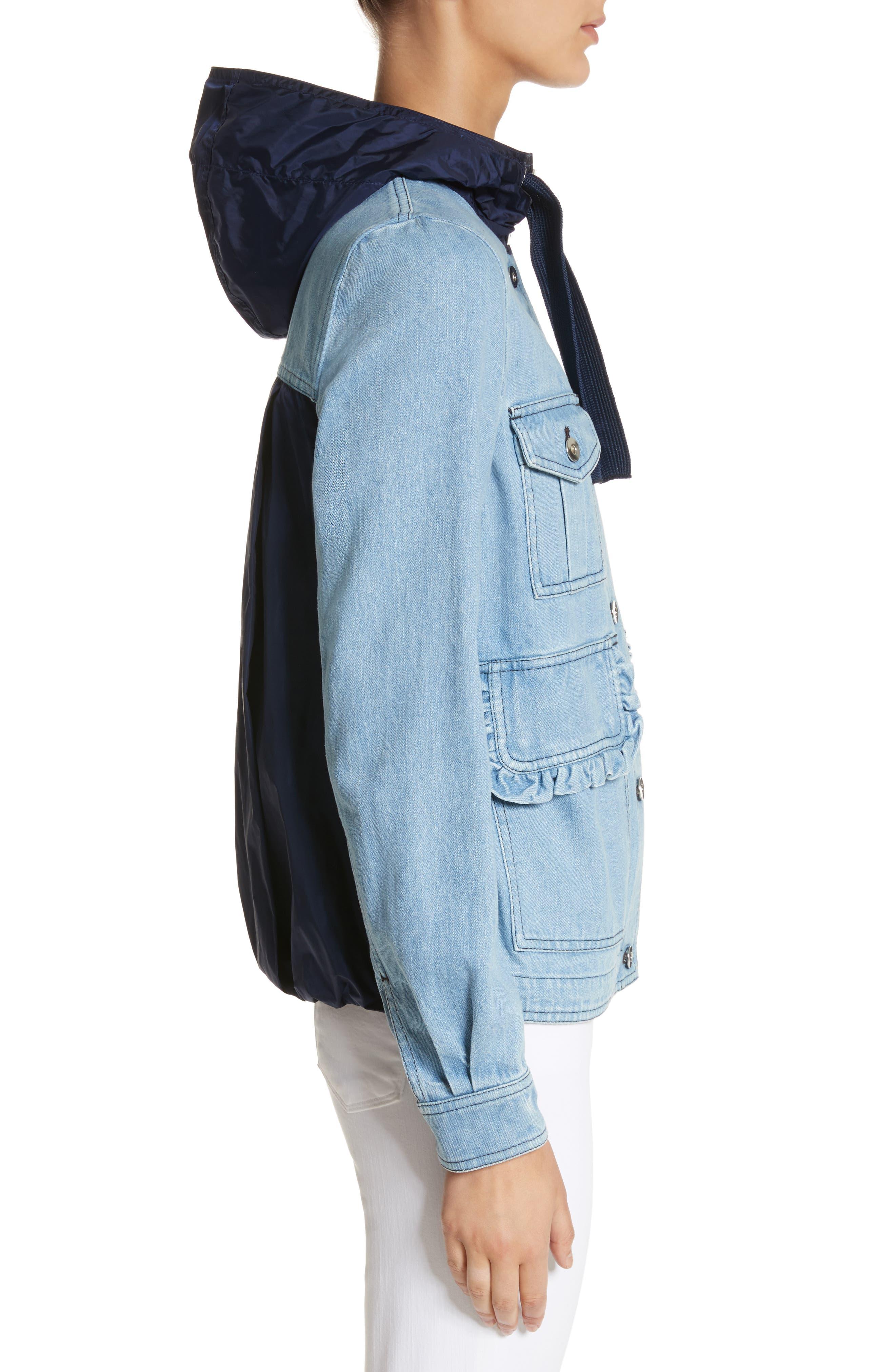 Hooded Denim Jacket,                             Alternate thumbnail 3, color,                             431
