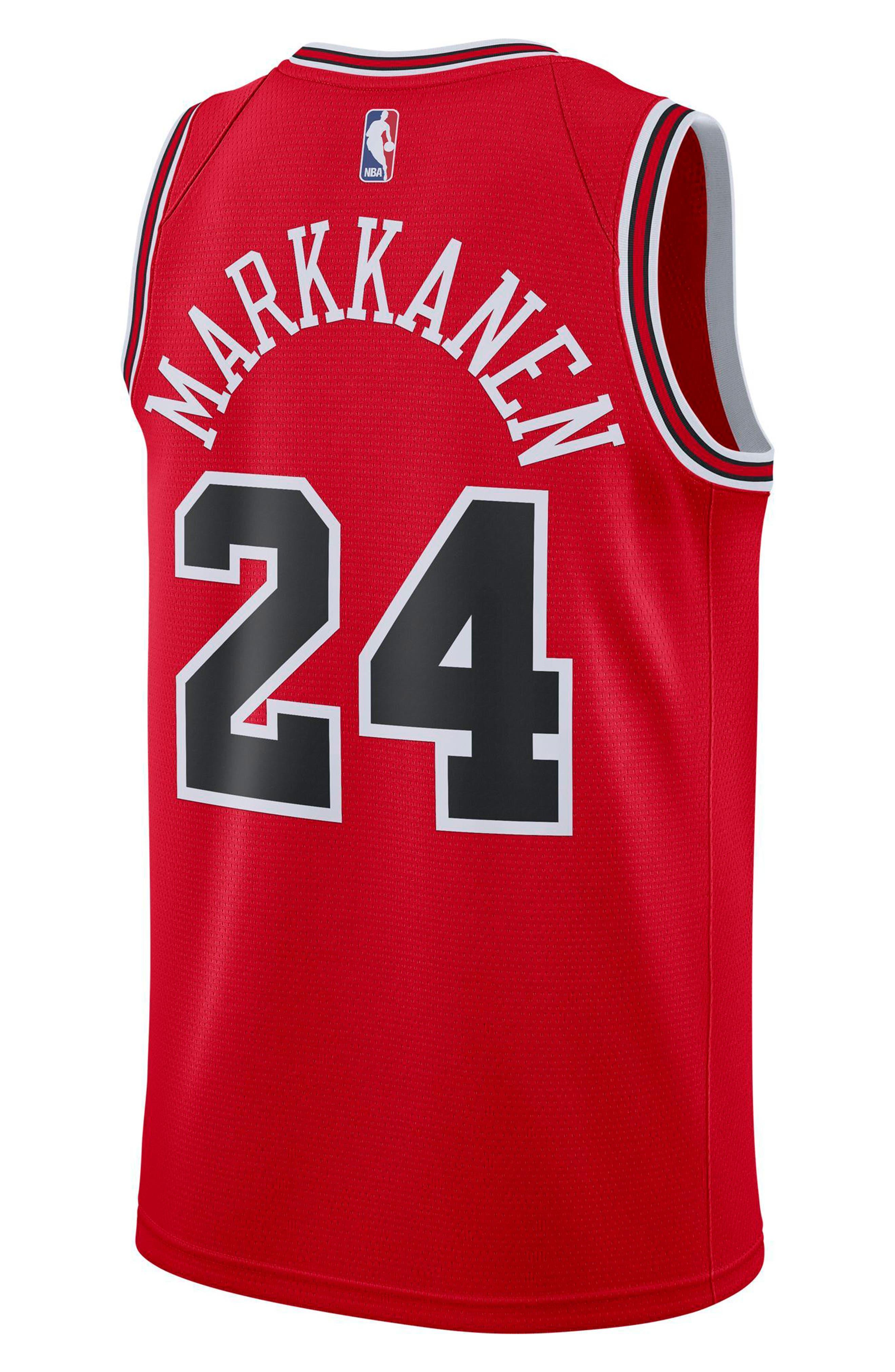 Chicago Bulls Icon Edition Swingman NBA Jersey,                             Alternate thumbnail 6, color,