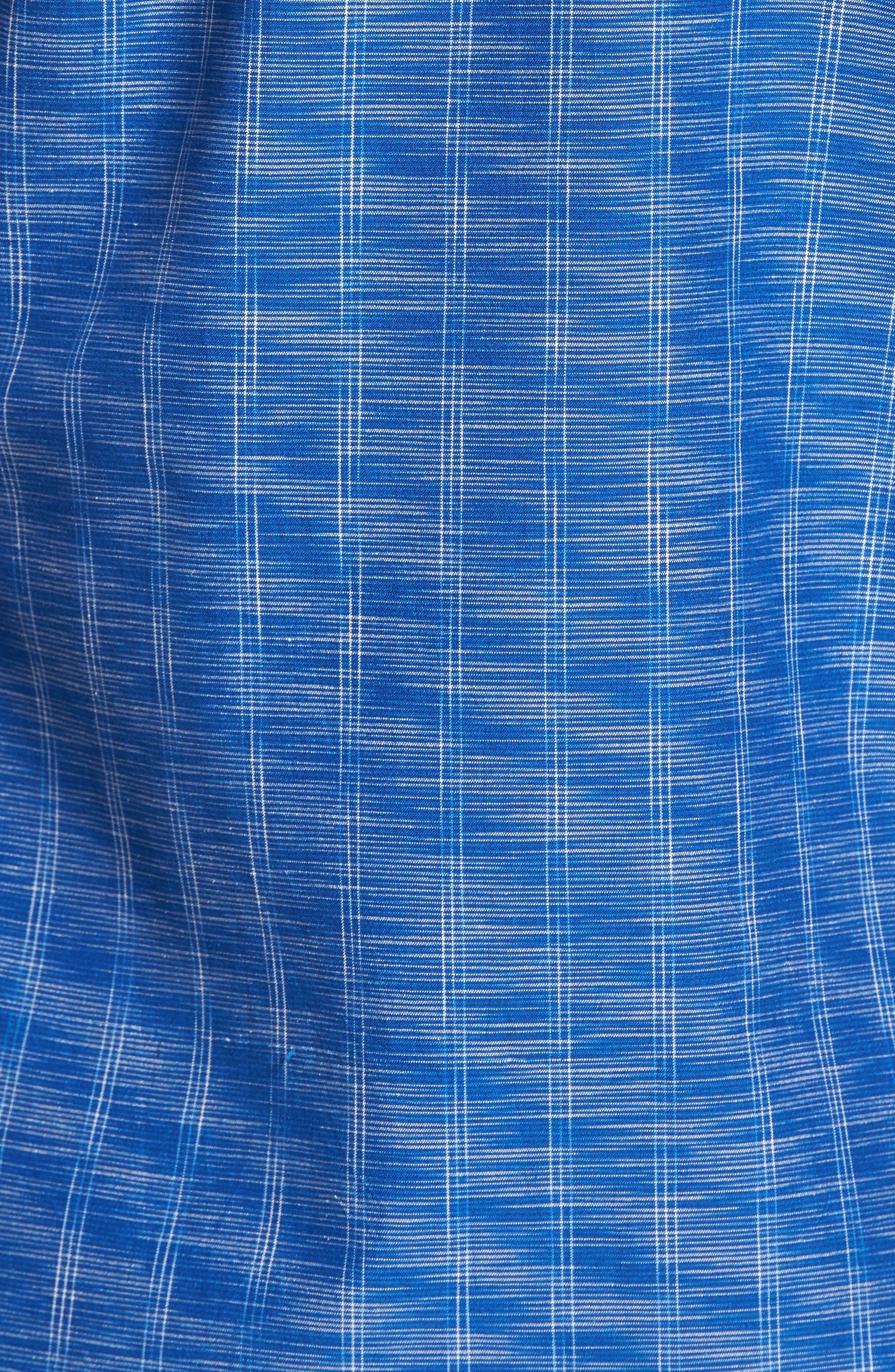 Seismic Stripe Silk Sport Shirt,                             Alternate thumbnail 10, color,