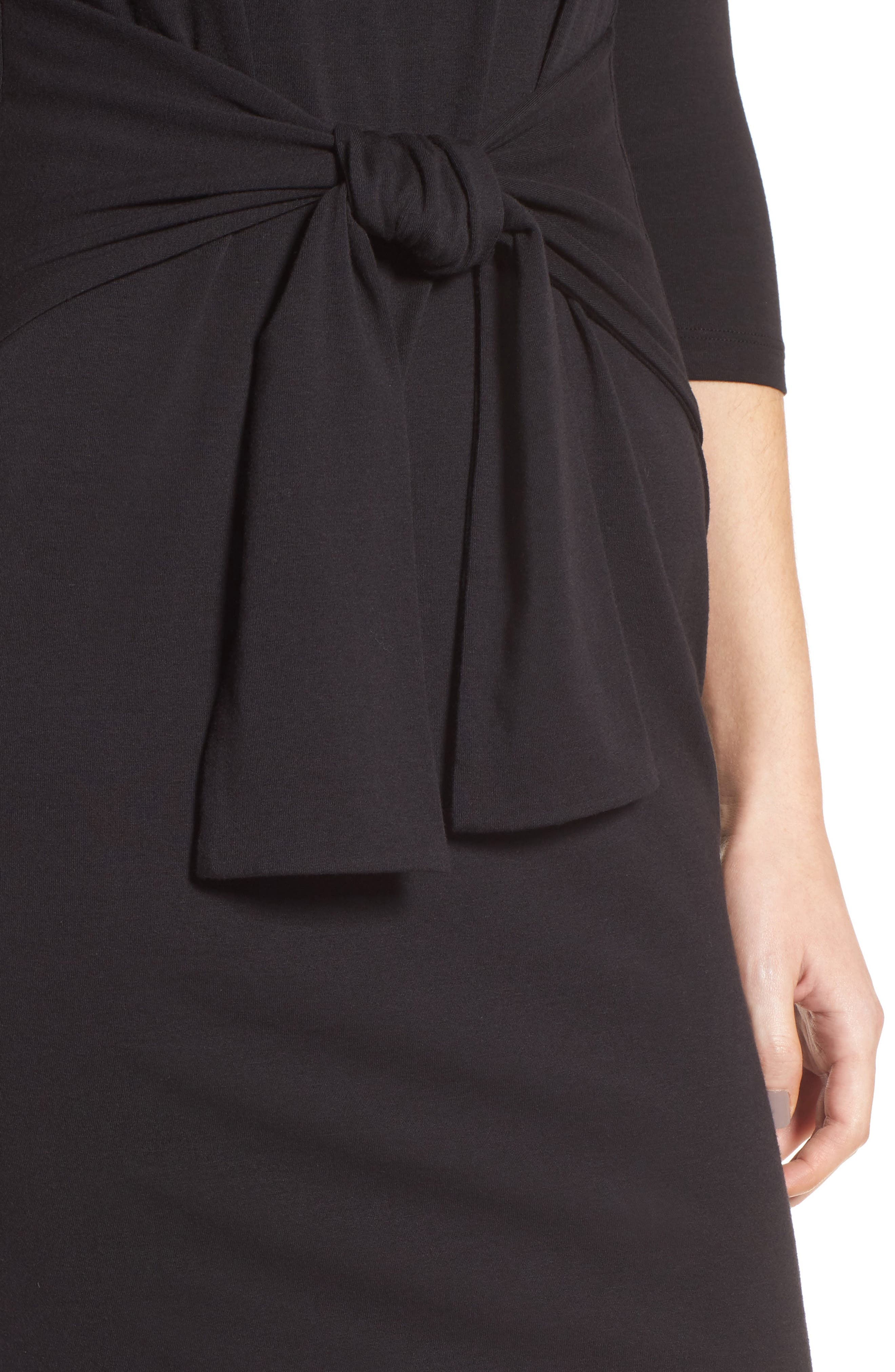 Colombe Knit Sheath Dress,                             Alternate thumbnail 4, color,                             001