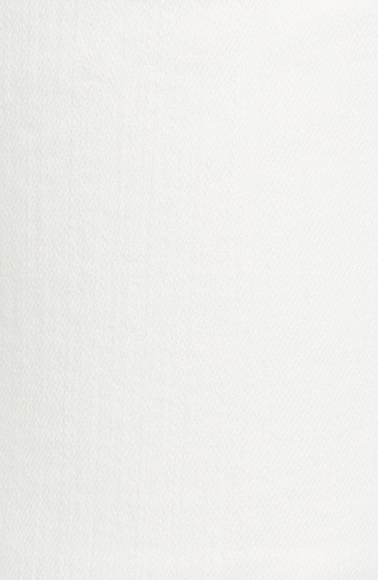 AG,                             The Isabelle High Waist Crop Straight Leg Jeans,                             Alternate thumbnail 6, color,                             01 YEAR TONAL WHITE