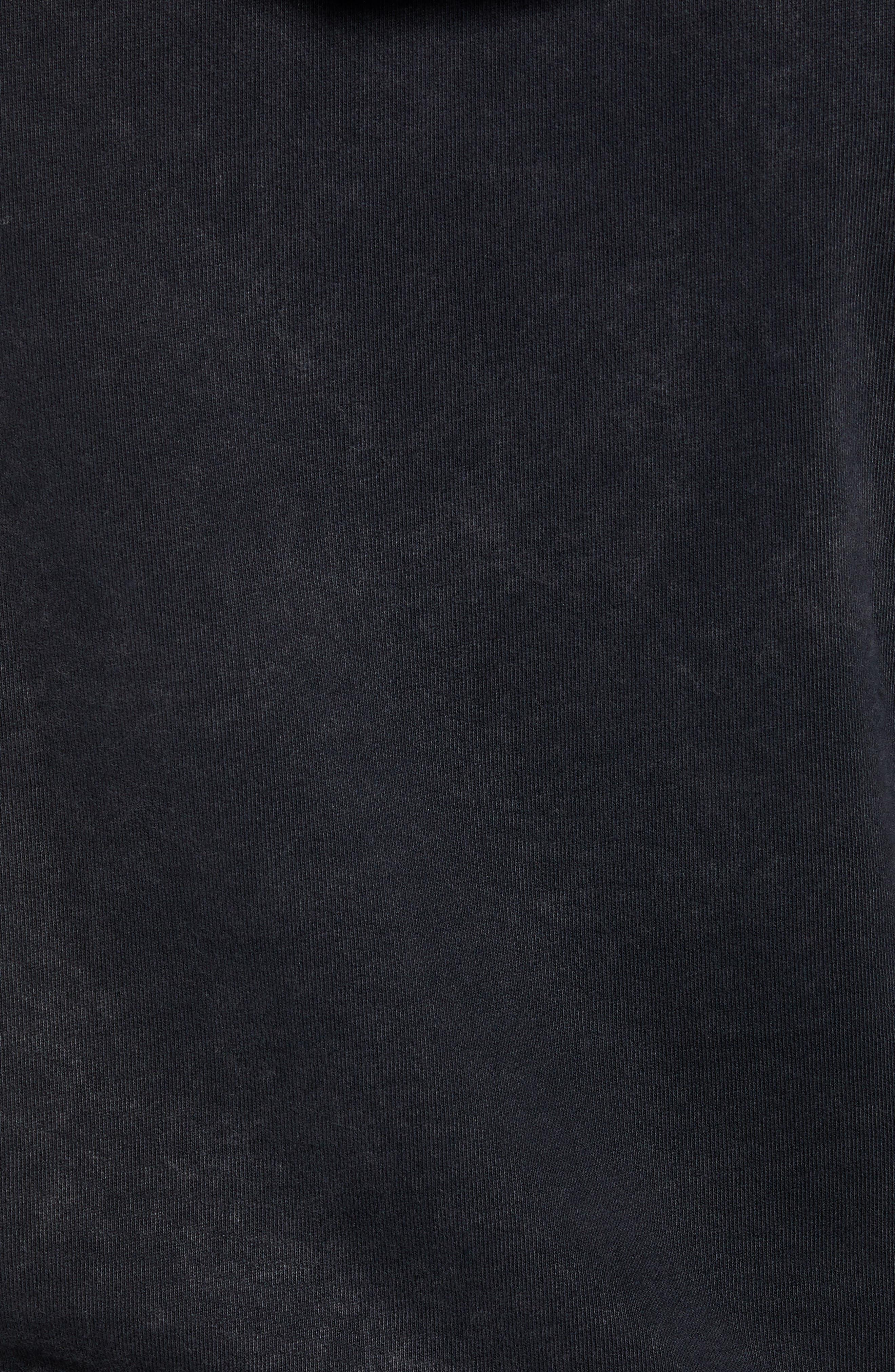 Vampire Graphic Hooded Sweatshirt,                             Alternate thumbnail 5, color,                             BLACK