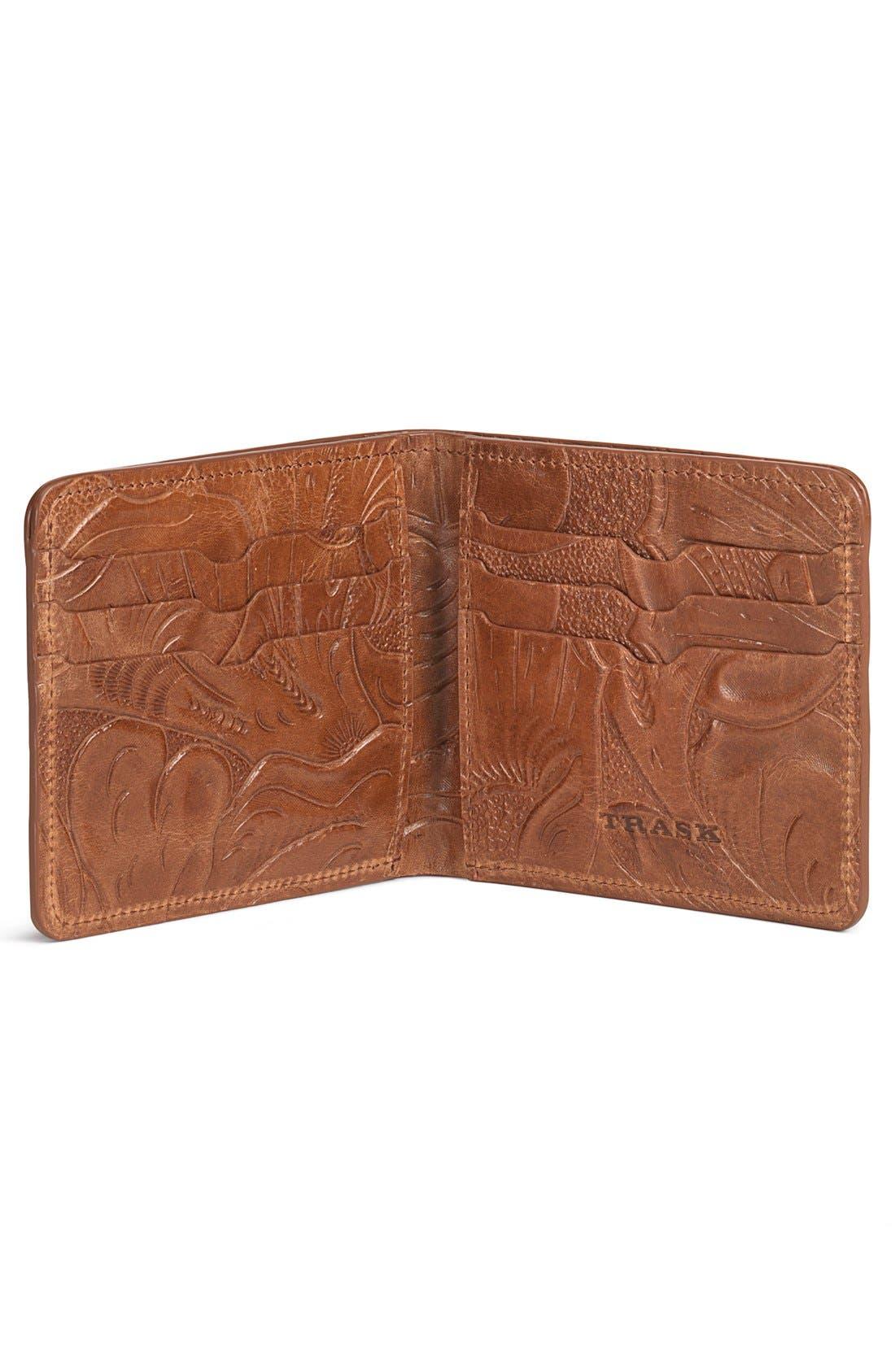 'Jackson' Slimfold Italian Steer Leather Wallet,                             Alternate thumbnail 2, color,                             TAN