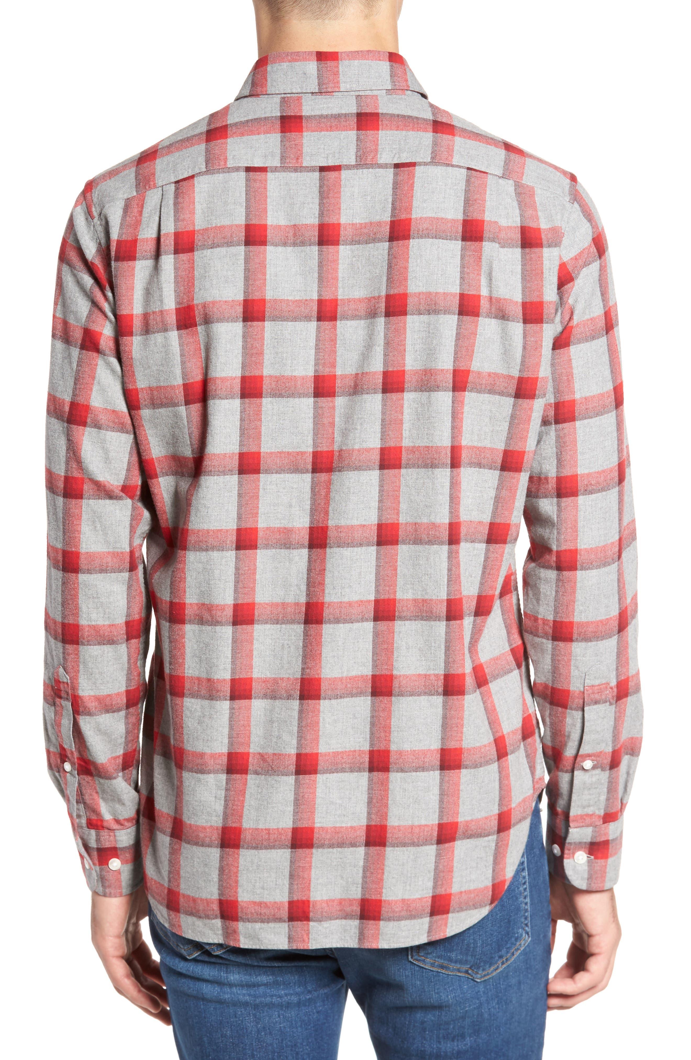 Slim Fit Brushed Check Sport Shirt,                             Alternate thumbnail 2, color,                             020