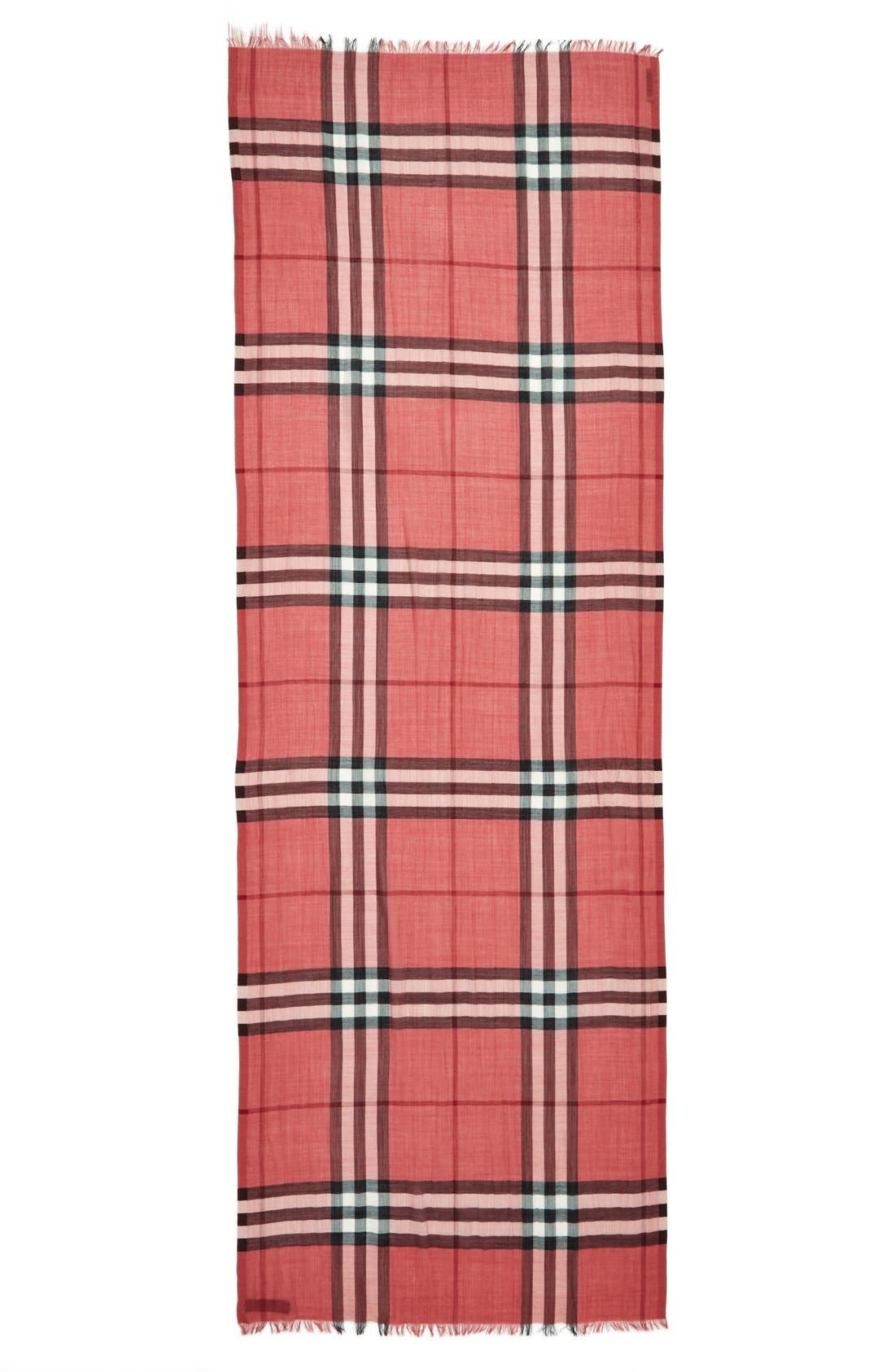 Giant Check Print Wool & Silk Scarf,                             Alternate thumbnail 140, color,