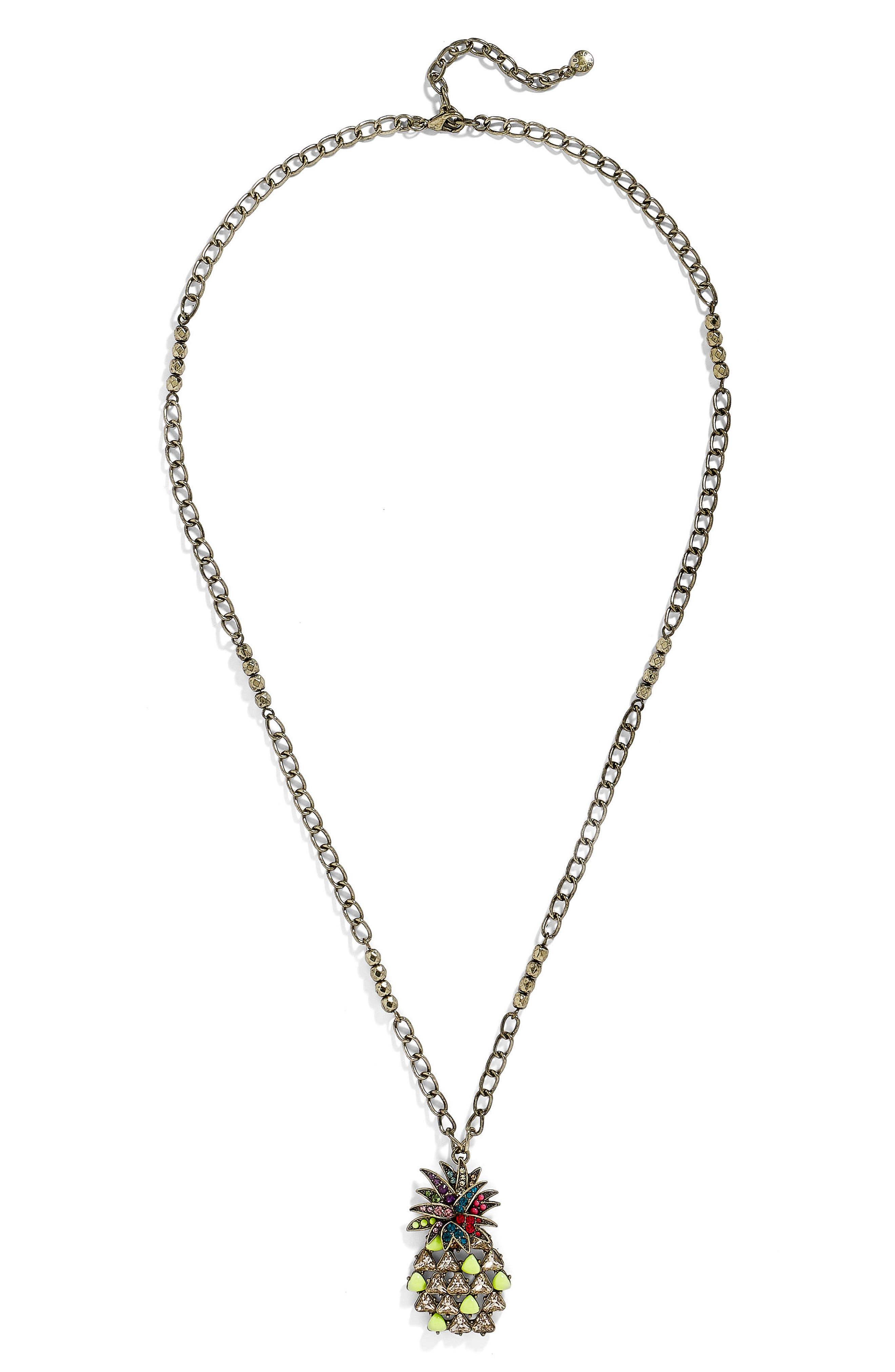 Pineapple Pop Pendant Necklace,                             Main thumbnail 1, color,