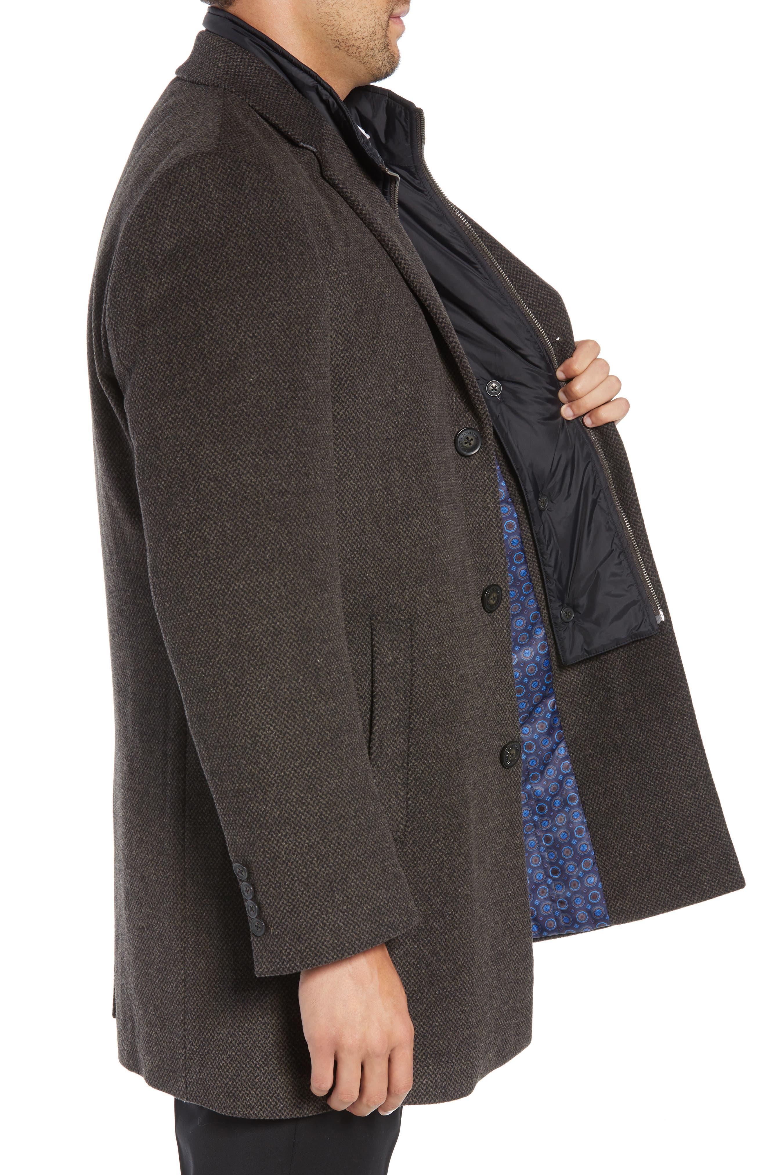 Kingman Modern Fit Wool Blend Coat with Removable Zipper Bib,                             Alternate thumbnail 5, color,