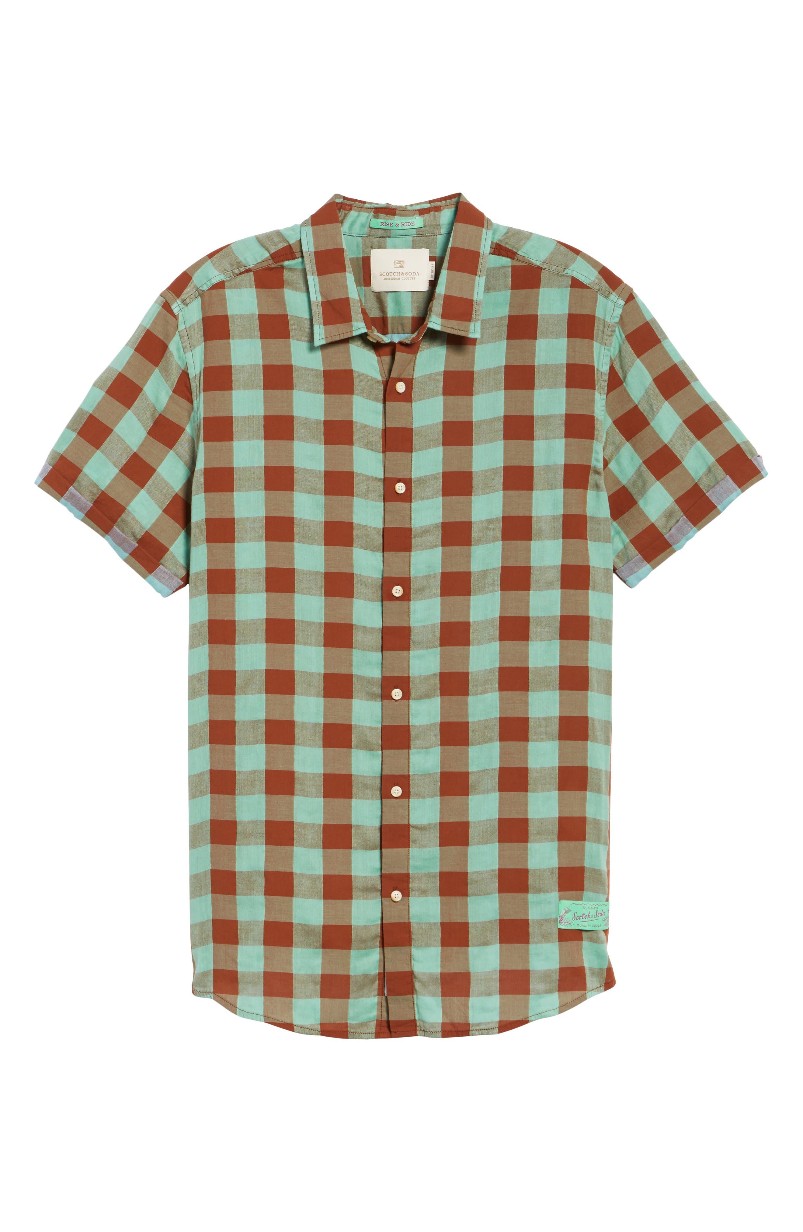 Check Woven Shirt,                             Alternate thumbnail 6, color,