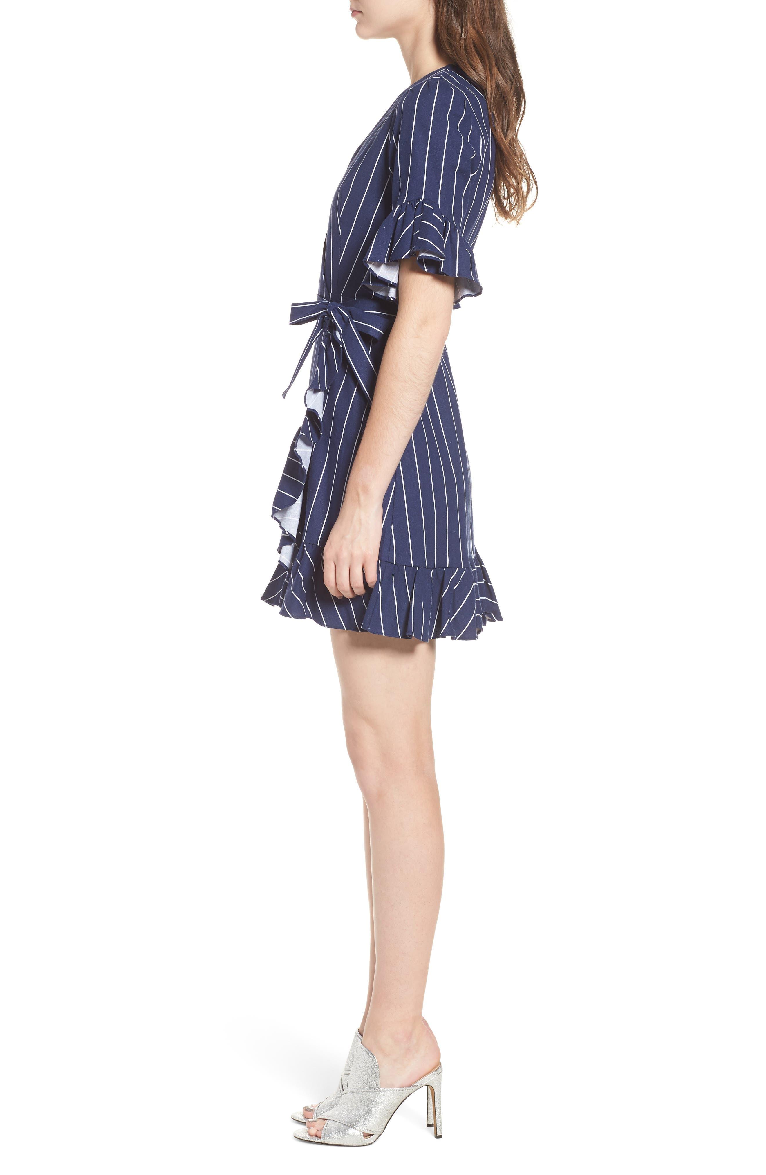 Ruffle Wrap Dress,                             Alternate thumbnail 13, color,