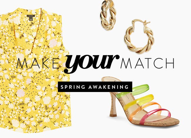 Make your match: spring awakening.