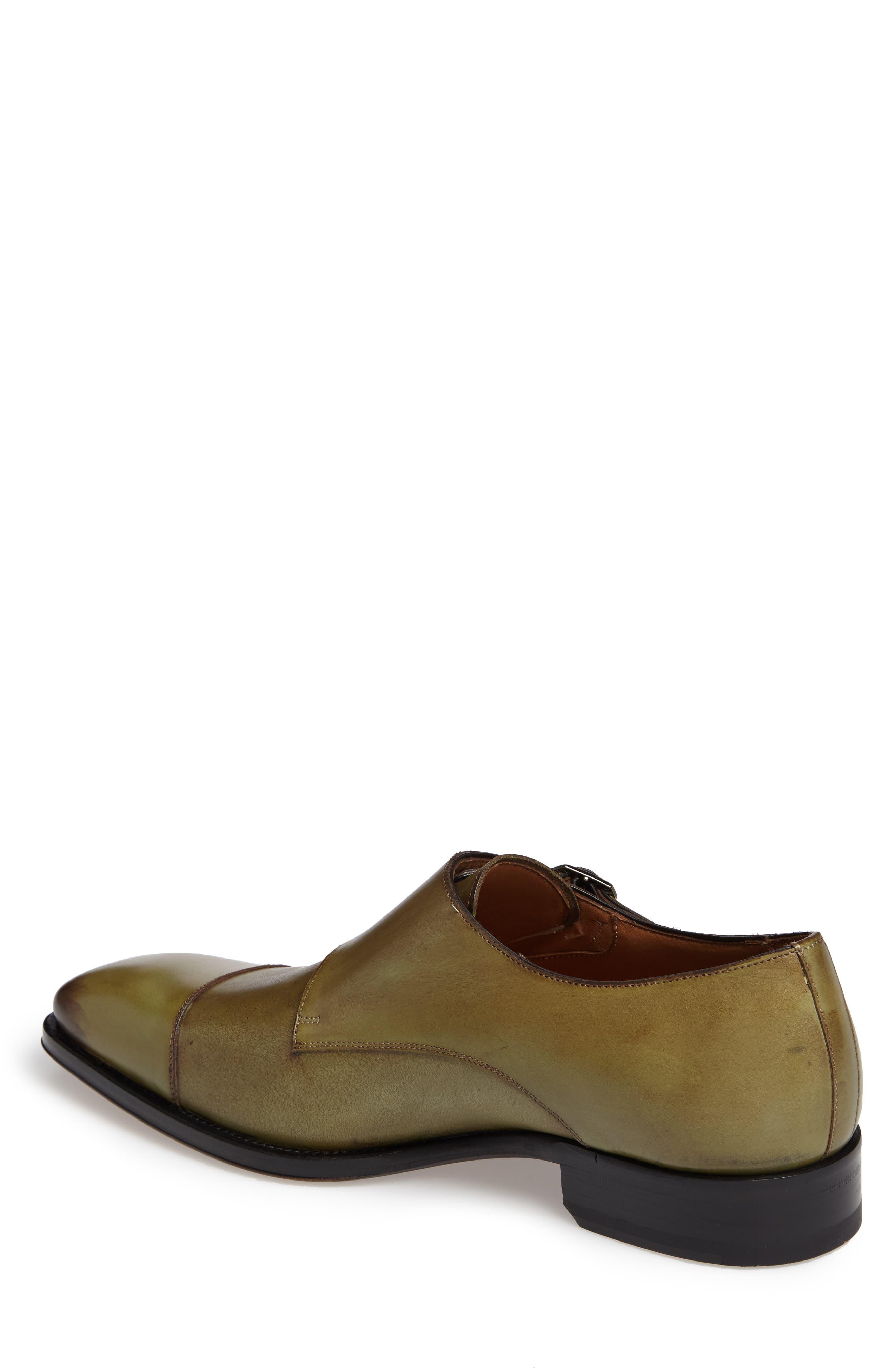 Cajal Double Monk Strap Cap Toe Shoe,                             Alternate thumbnail 6, color,