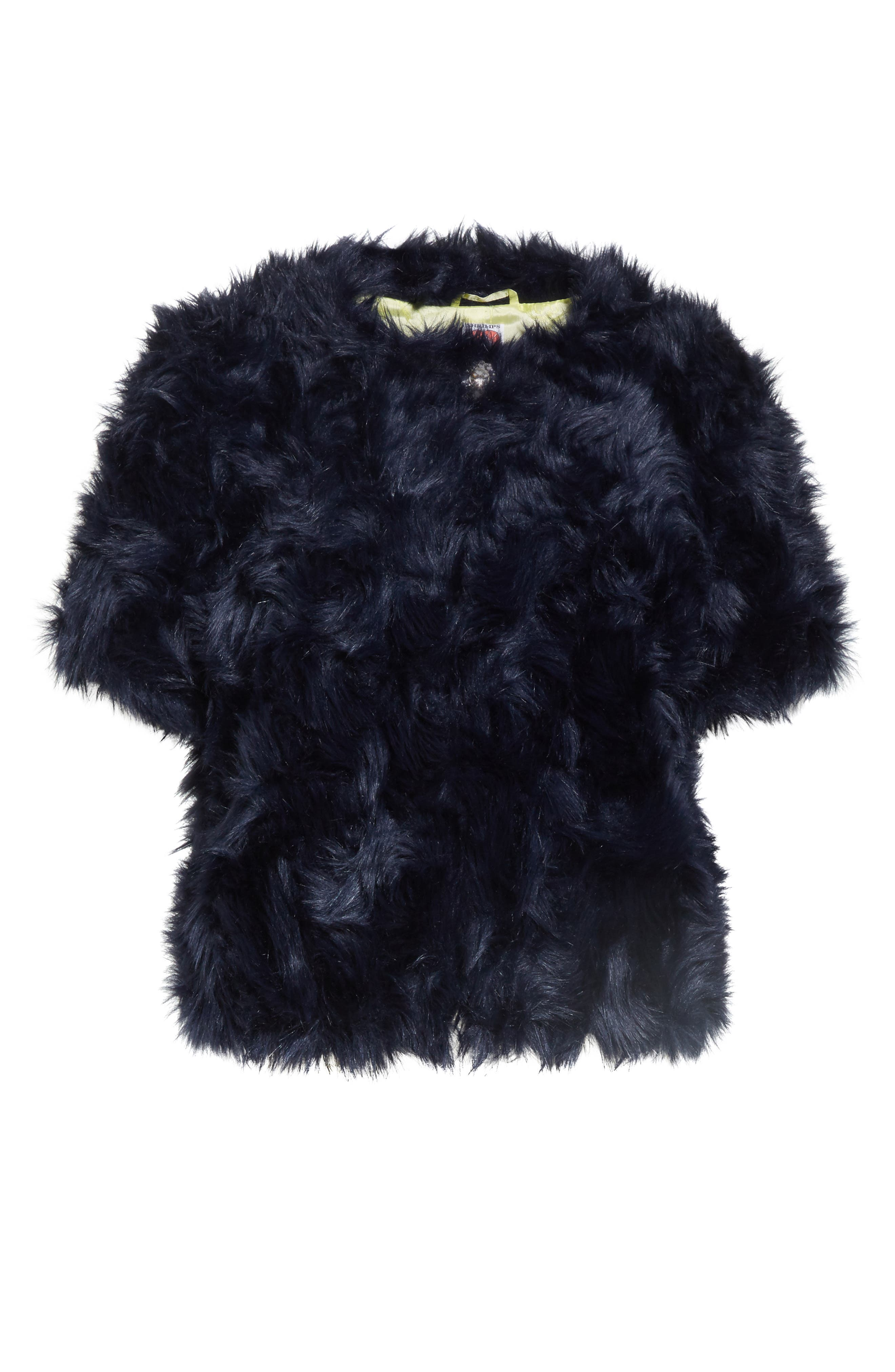 Sofia Faux Fur Jacket,                             Alternate thumbnail 5, color,                             400