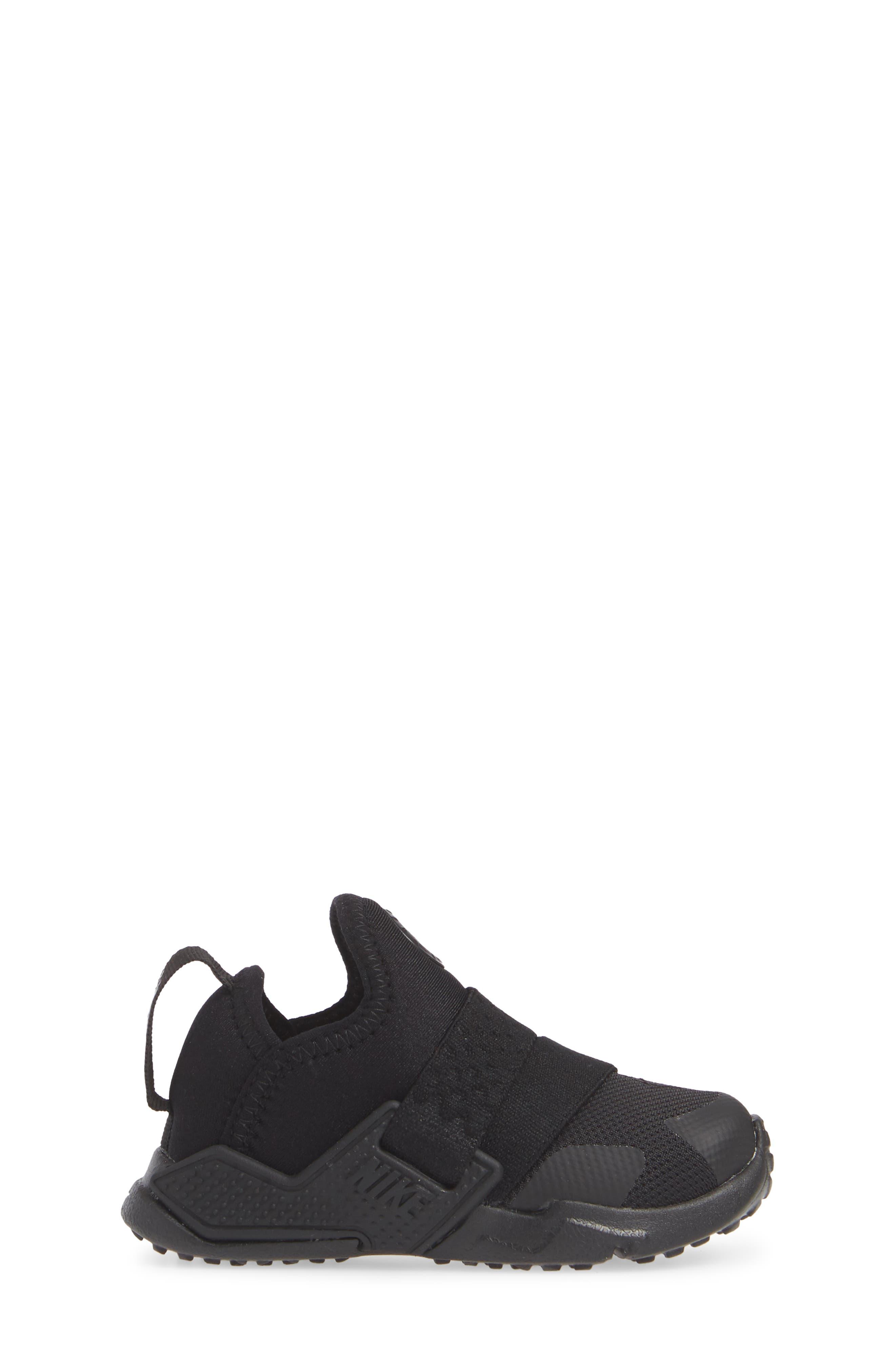 Huarache Extreme Sneaker,                             Alternate thumbnail 3, color,                             BLACK/ BLACK-BLACK