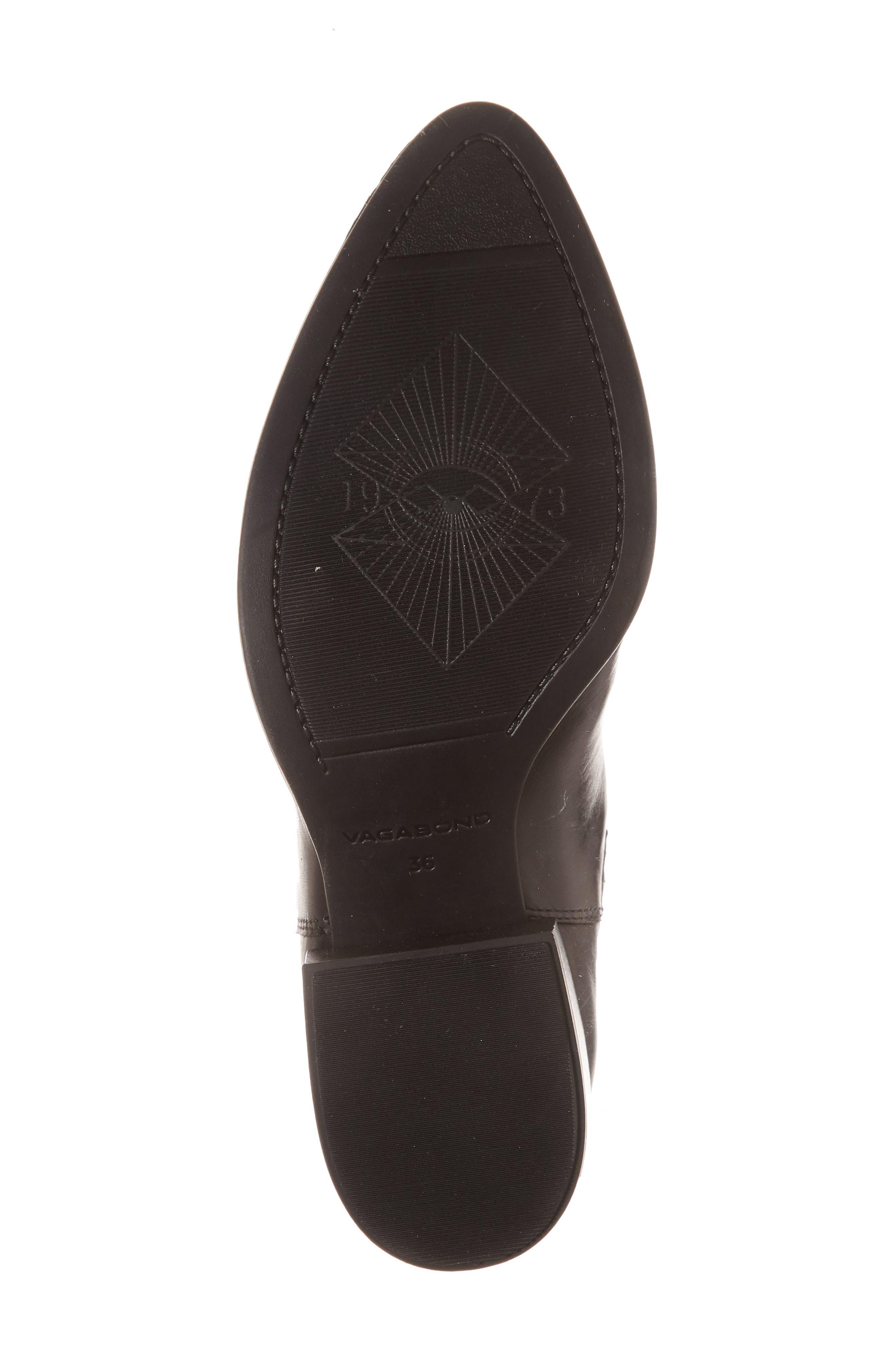 VAGABOND,                             Shoemakers Marja Cap Toe Bootie,                             Alternate thumbnail 6, color,                             BLACK LEATHER