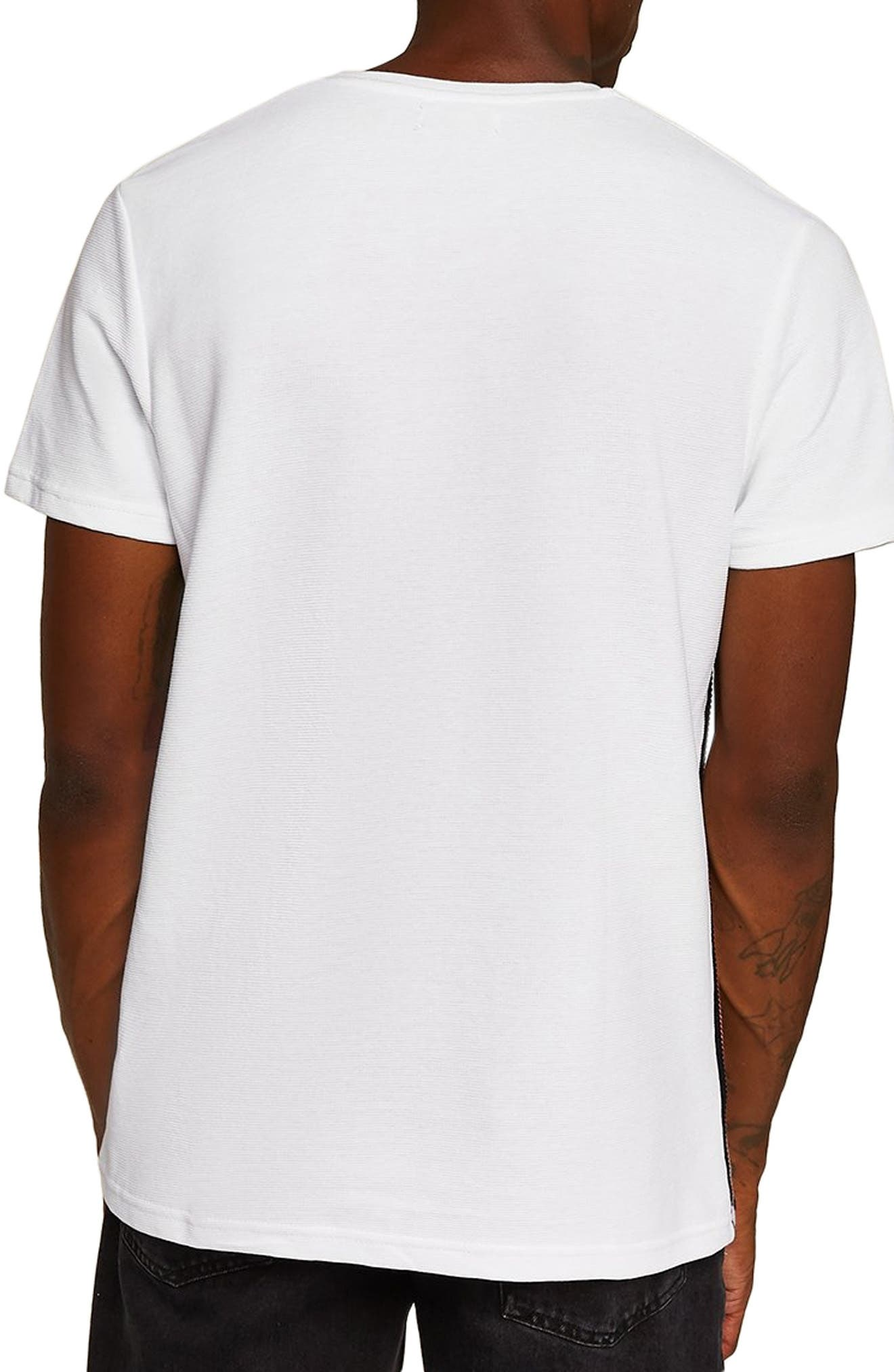 Otto Slim Fit Side Tape T-Shirt,                             Alternate thumbnail 2, color,                             100