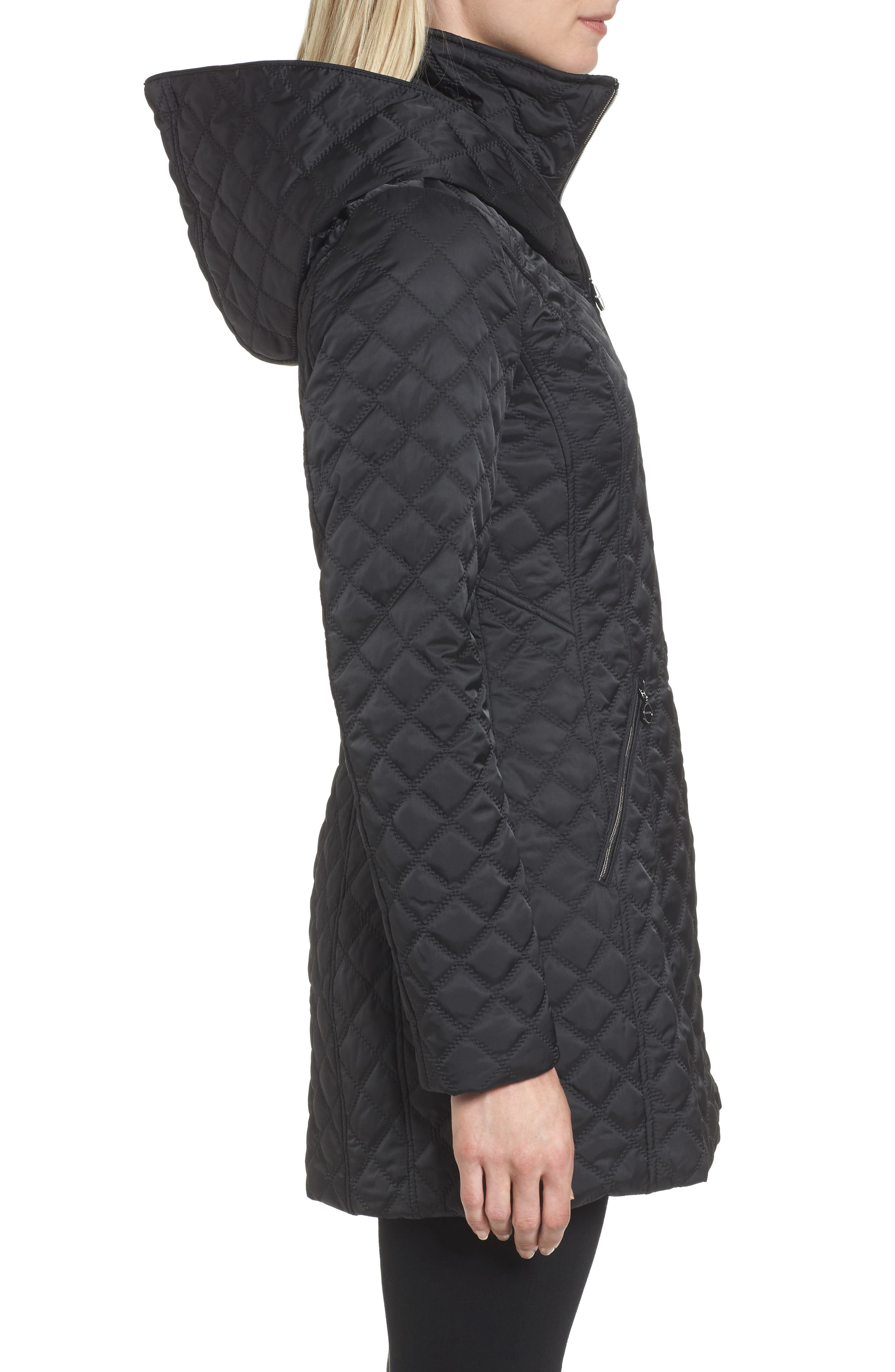Hooded Quilted Jacket,                             Alternate thumbnail 7, color,