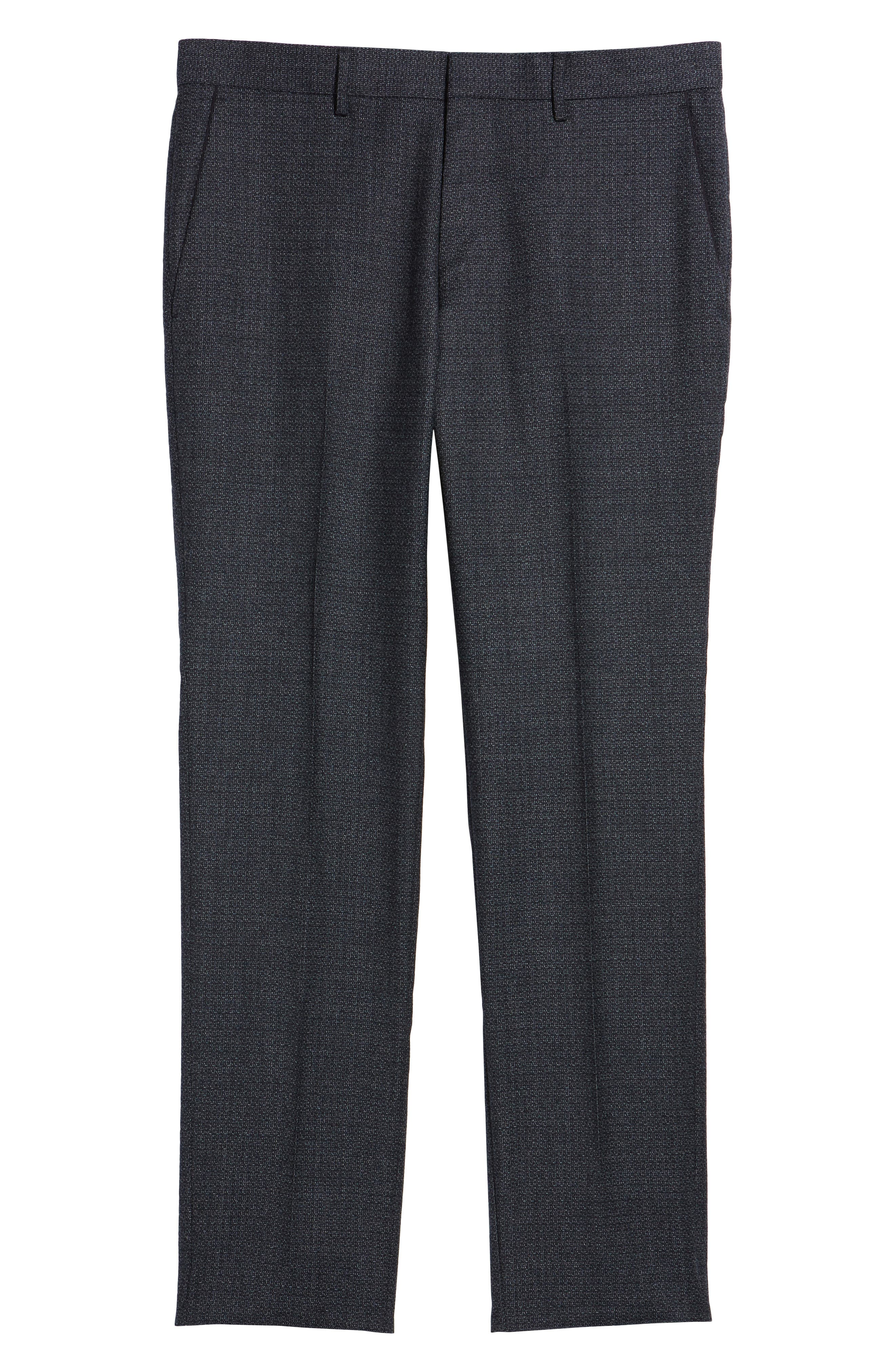 Giro Flat Front Solid Wool Trousers,                             Alternate thumbnail 12, color,