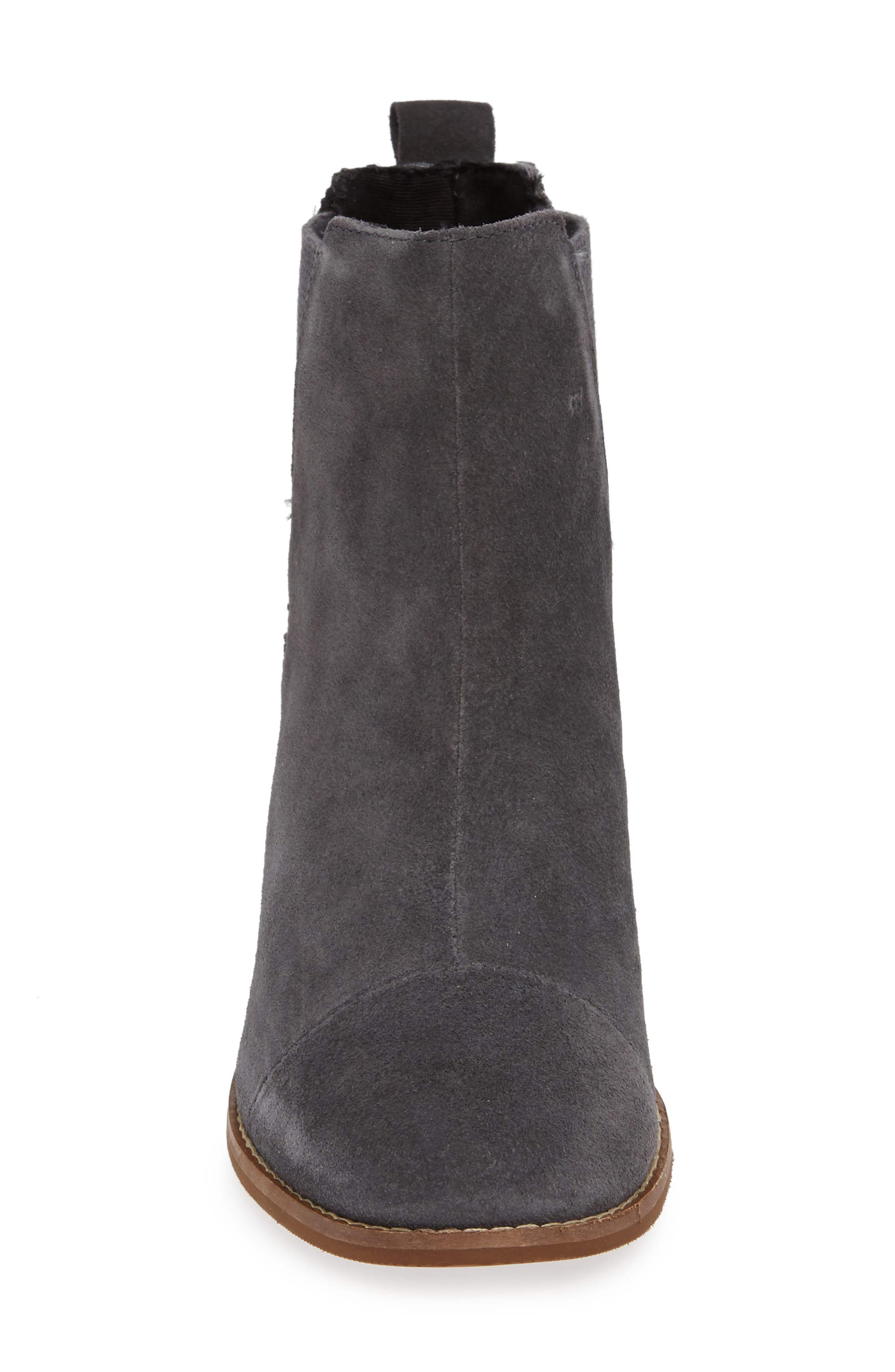 Esme Bootie,                             Alternate thumbnail 4, color,                             FORGED IRON SUEDE