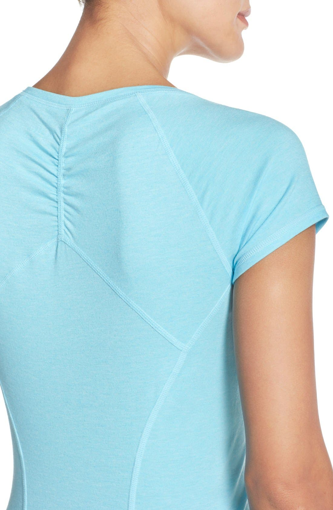 'Z 6' Ruched Tee,                             Alternate thumbnail 67, color,