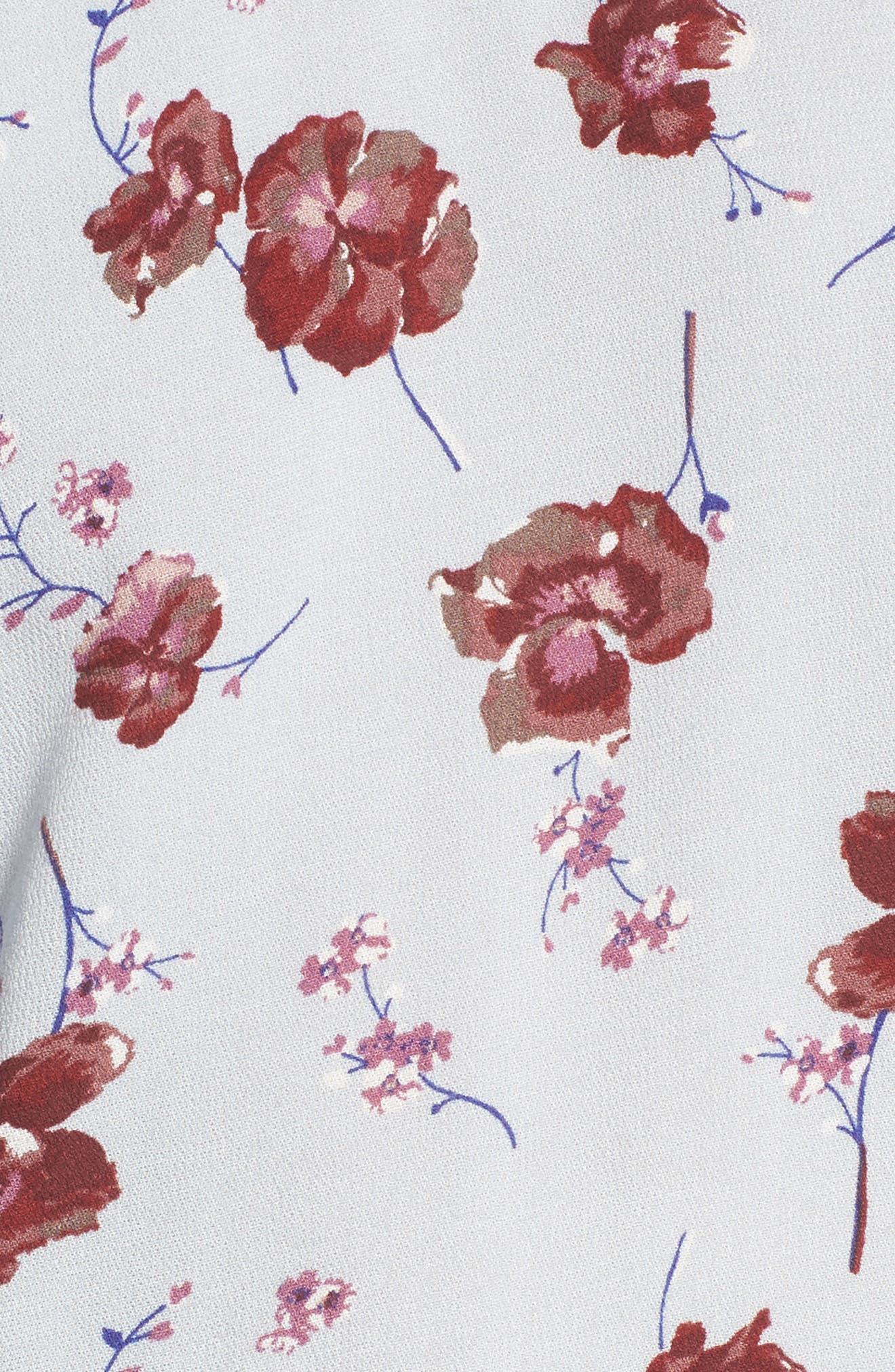Floral Print Ruffle Blouse,                             Alternate thumbnail 10, color,