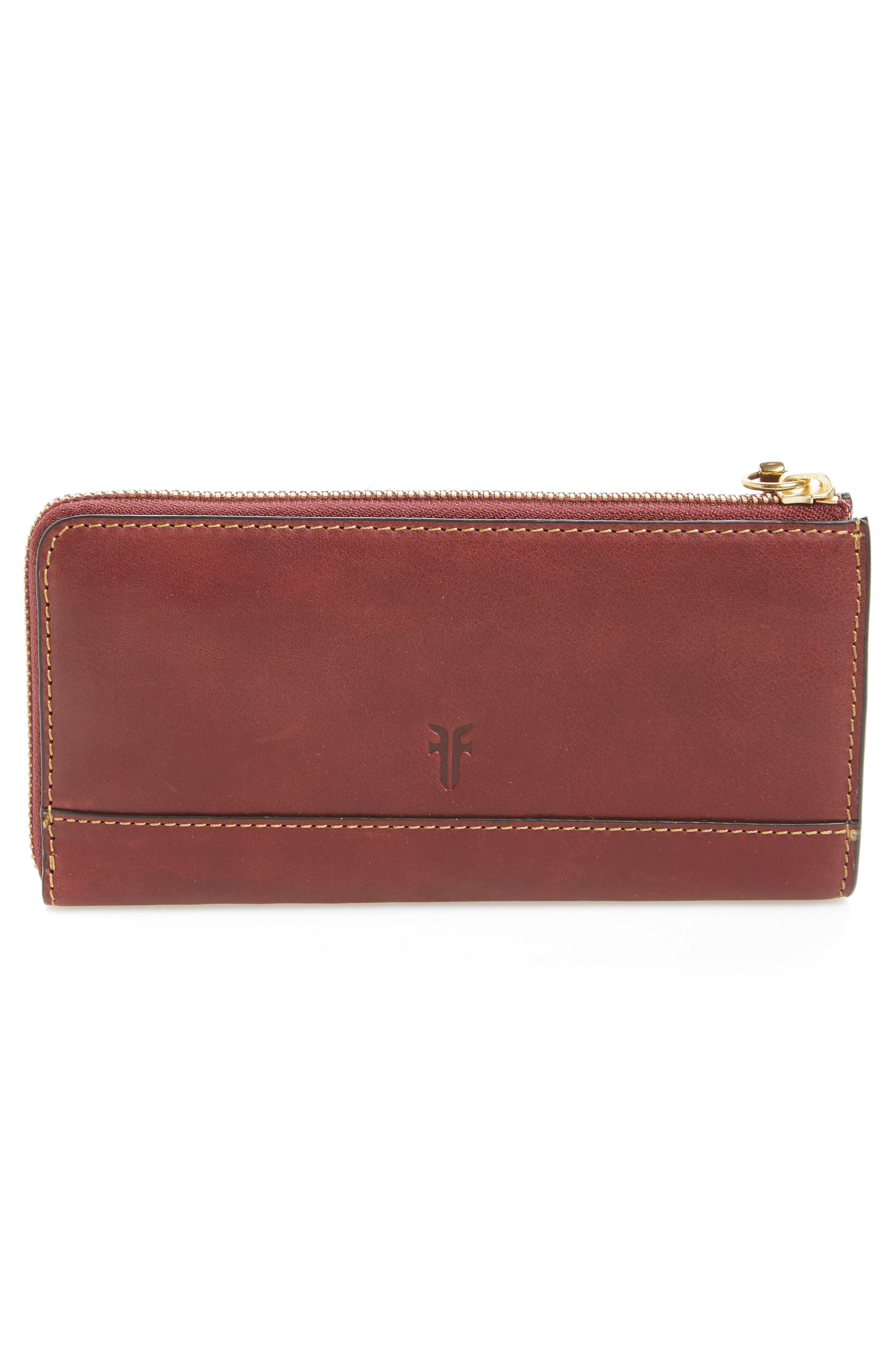 Large Ilana Harness Leather Zip Wallet,                             Alternate thumbnail 6, color,