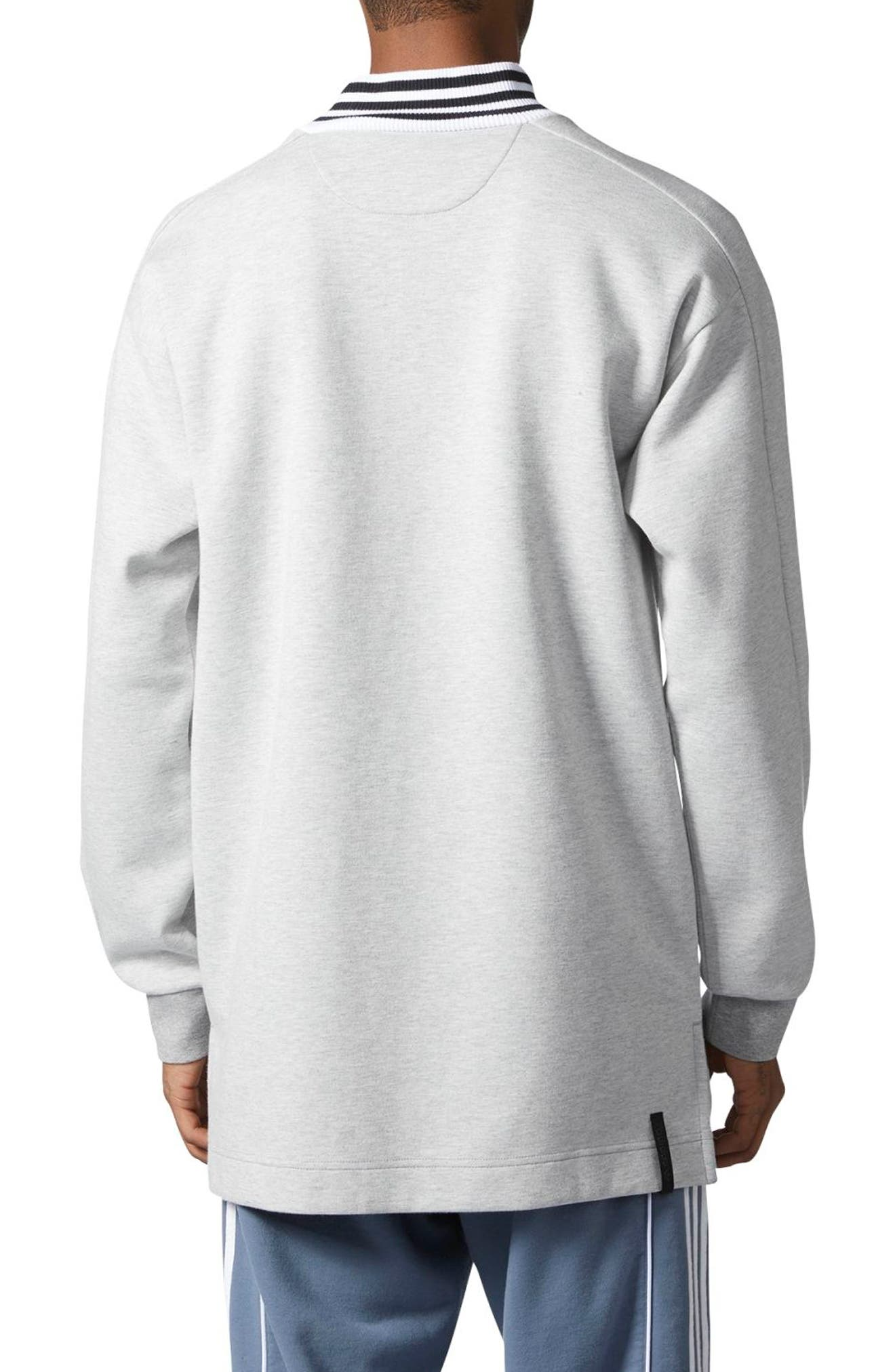 ADIDAS ORIGINALS,                             Mock Neck Sweatshirt,                             Alternate thumbnail 2, color,                             035
