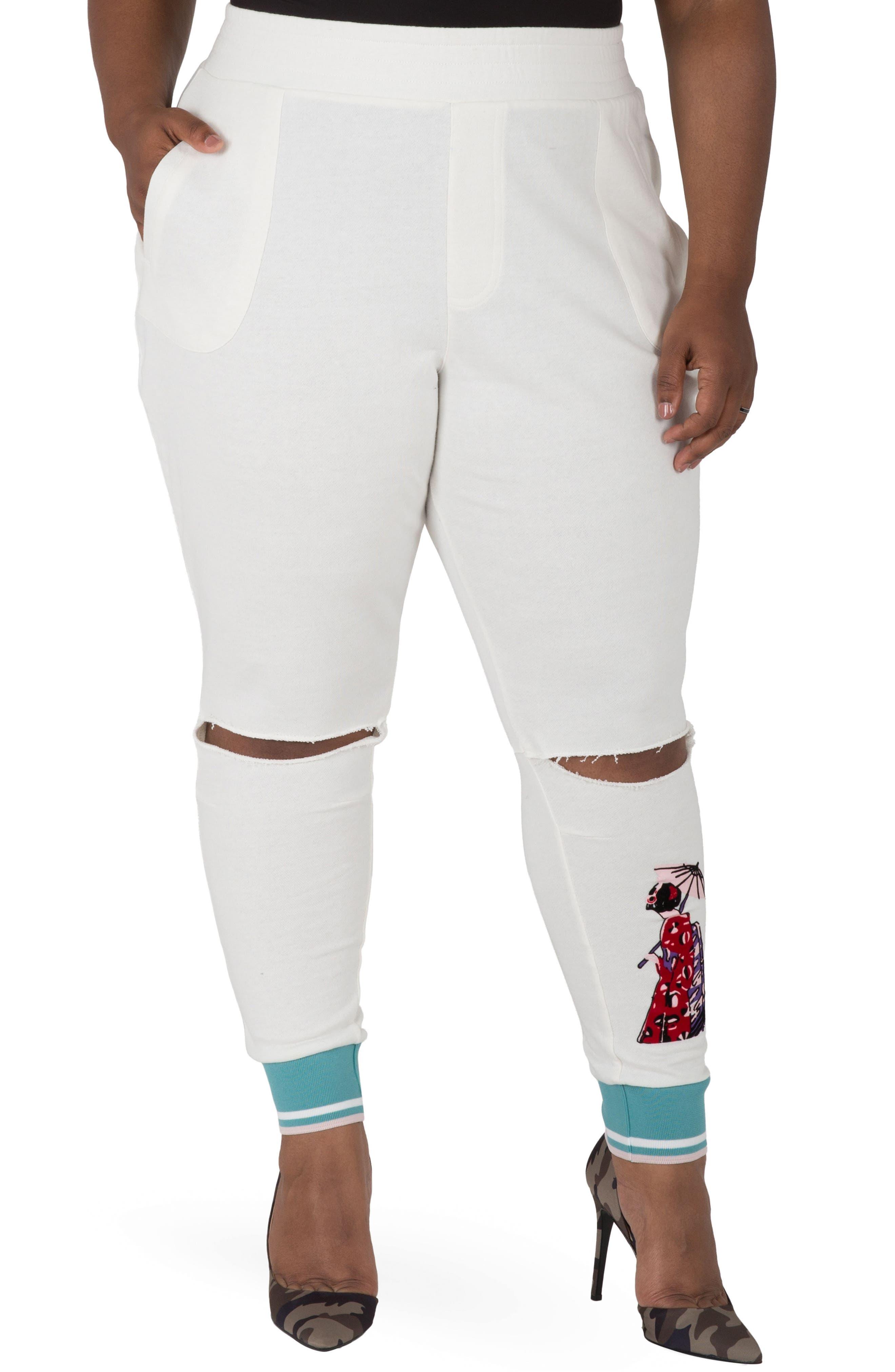 Akira Ankle Jogger Pants,                             Main thumbnail 1, color,                             QUARTZ WHITE