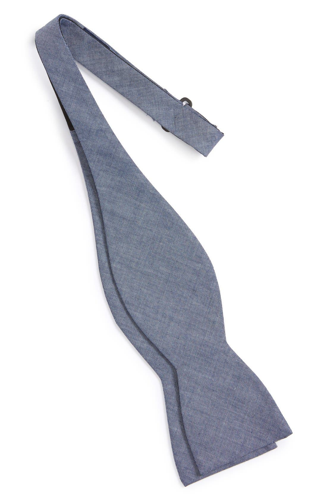Cotton Bow Tie,                             Alternate thumbnail 2, color,                             WARM BLUE