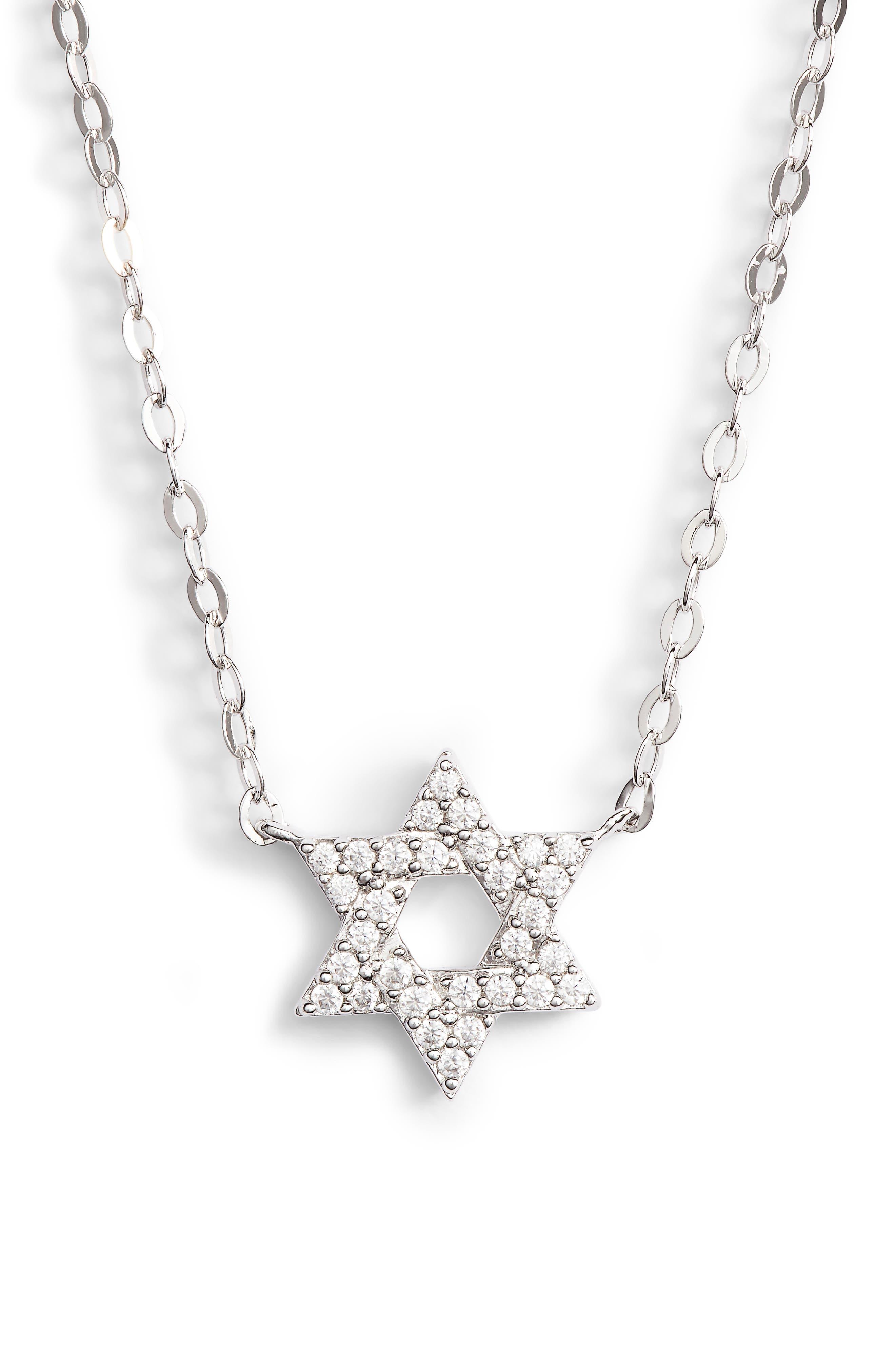 Reminisce Star of David Pendant Necklace,                             Main thumbnail 1, color,                             044