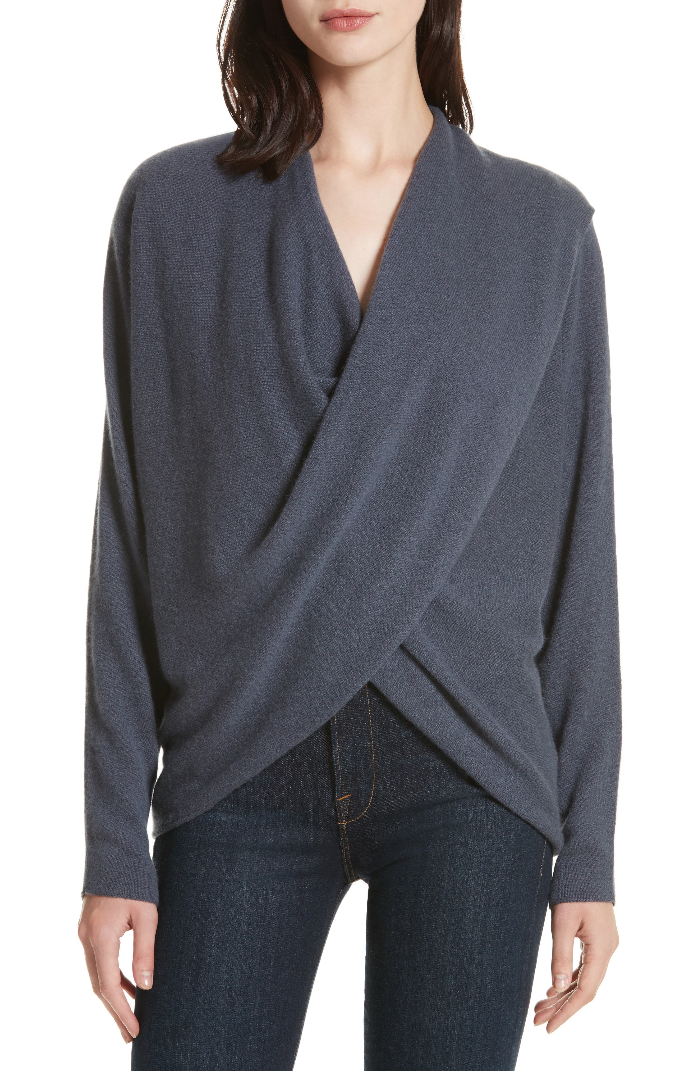 Clea Cashmere Off-Shoulder Sweater,                             Main thumbnail 1, color,                             410
