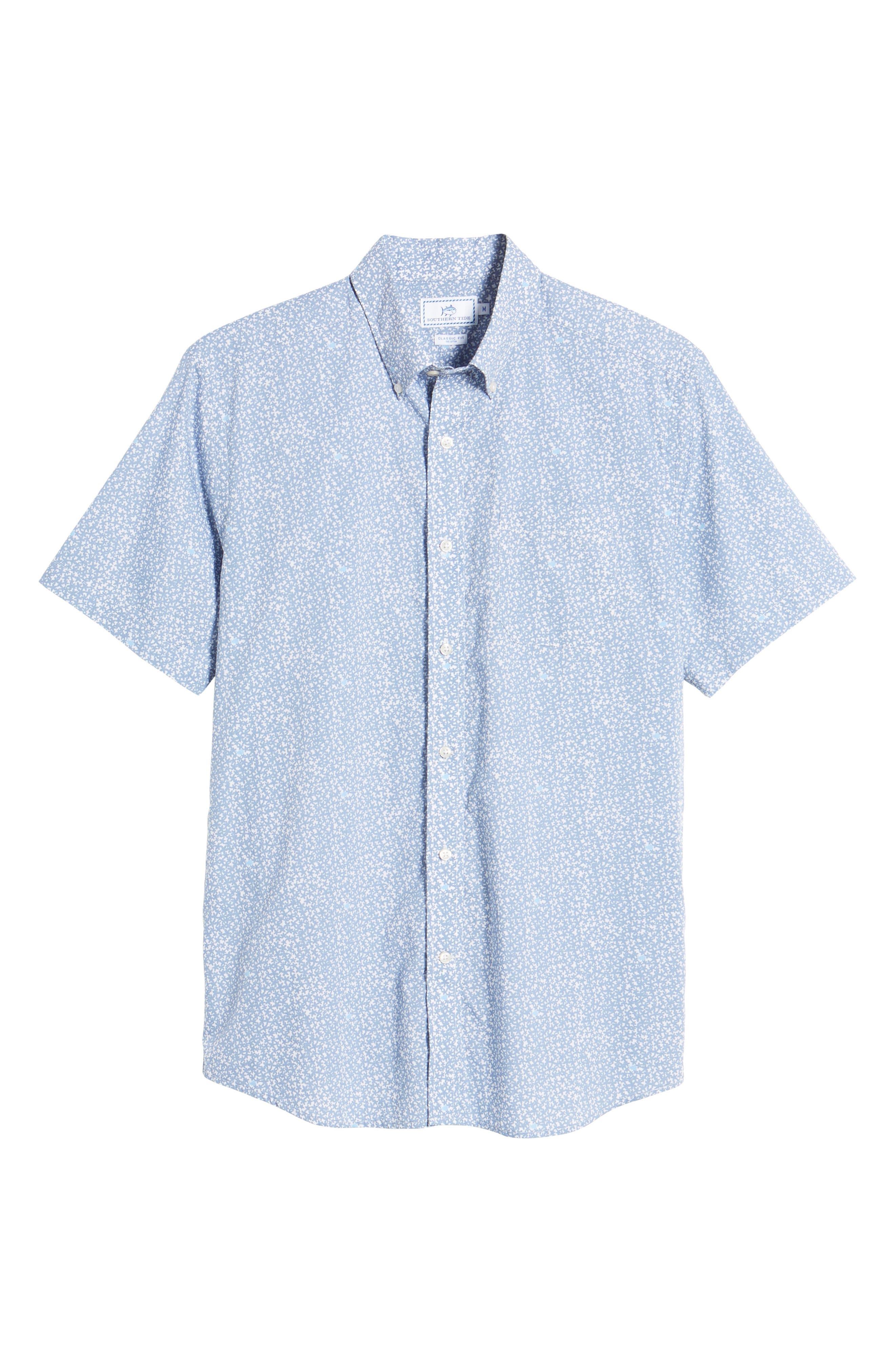 Dover Beach Regular Fit Print Sport Shirt,                             Alternate thumbnail 6, color,                             020
