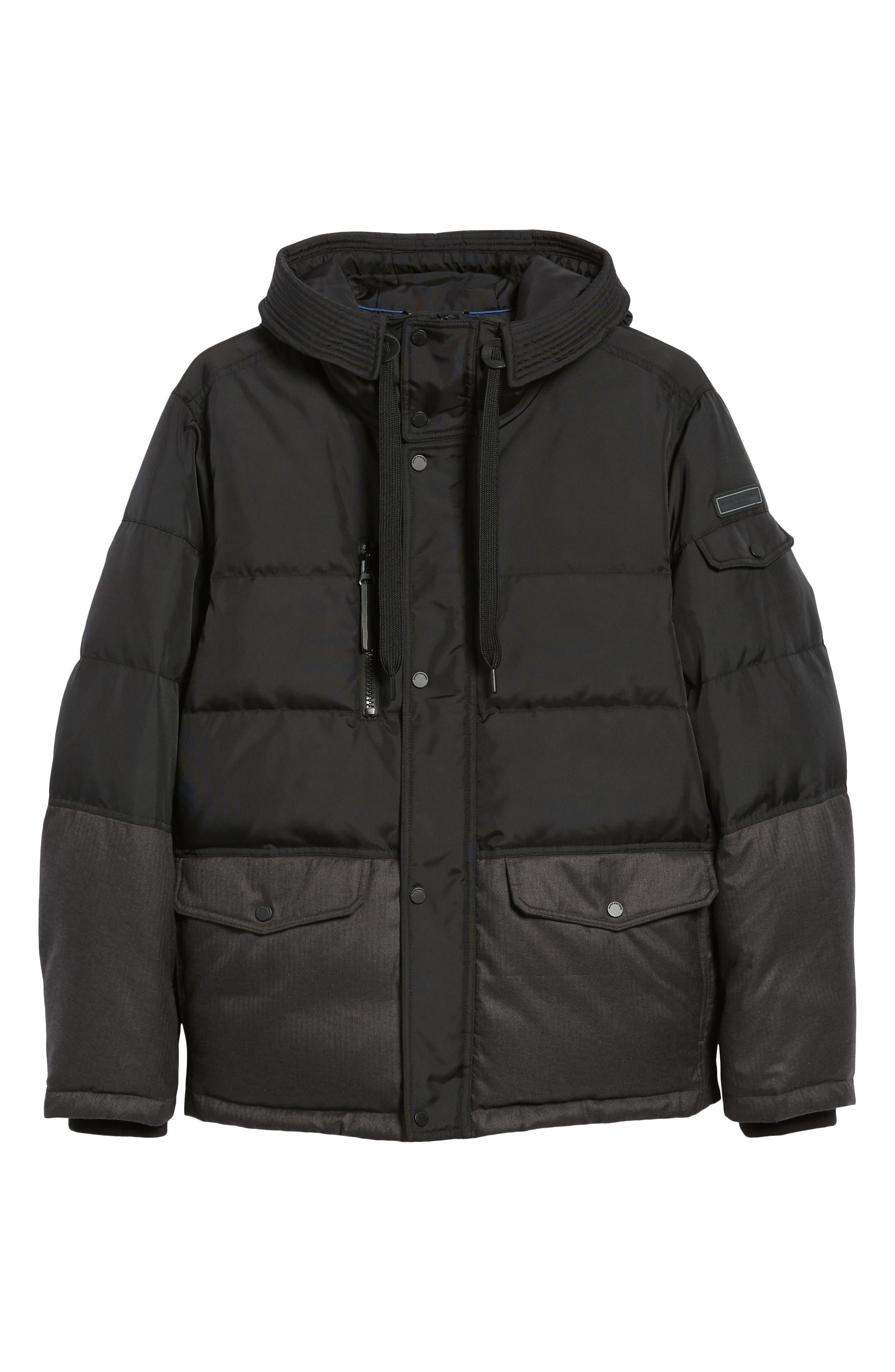 MARC NEW YORK,                             Stanton Oxford Puffer Jacket,                             Alternate thumbnail 6, color,                             BLACK