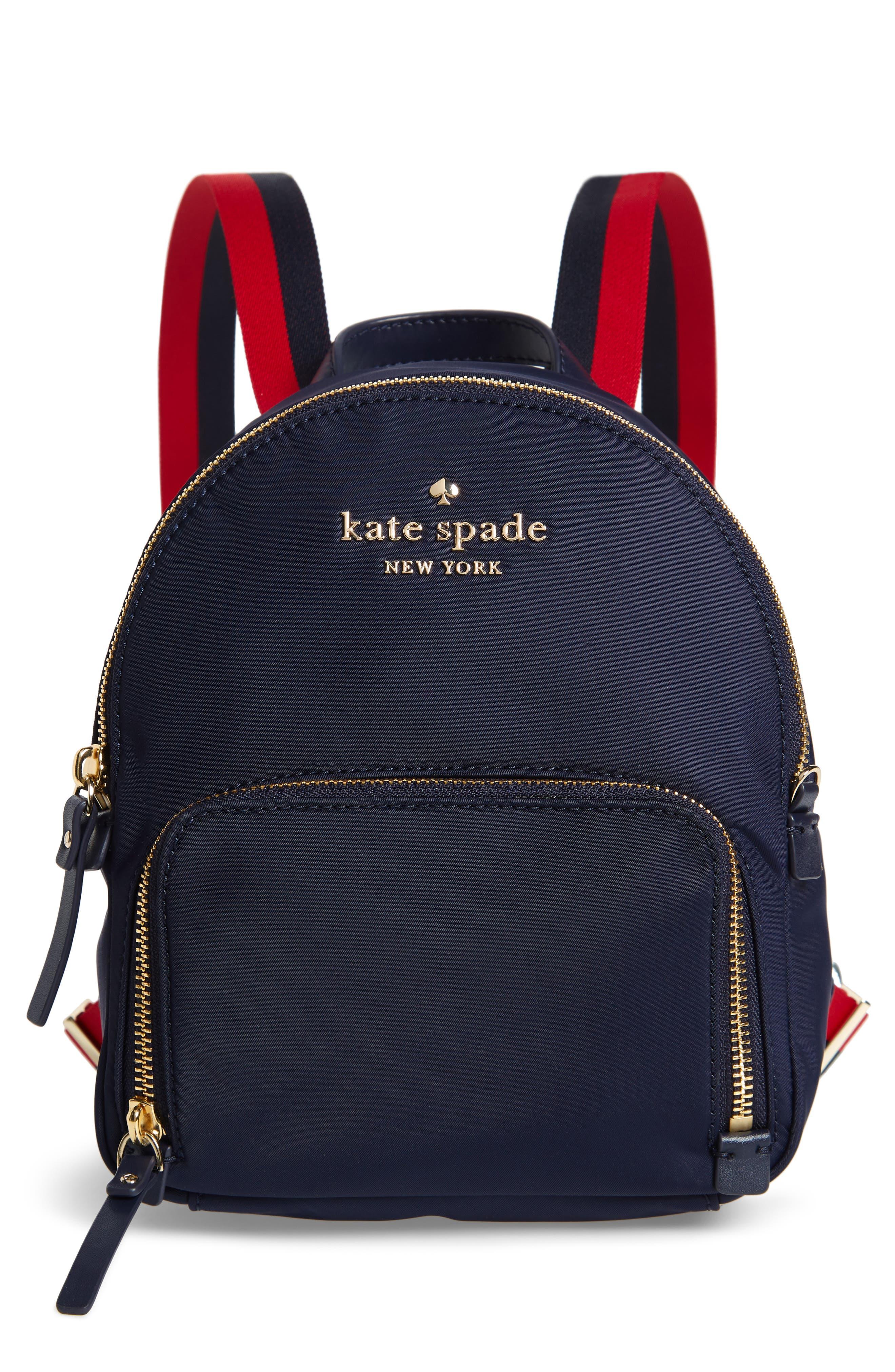 KATE SPADE NEW YORK,                             kate spade watson lane varsity stripe small backpack,                             Main thumbnail 1, color,                             400
