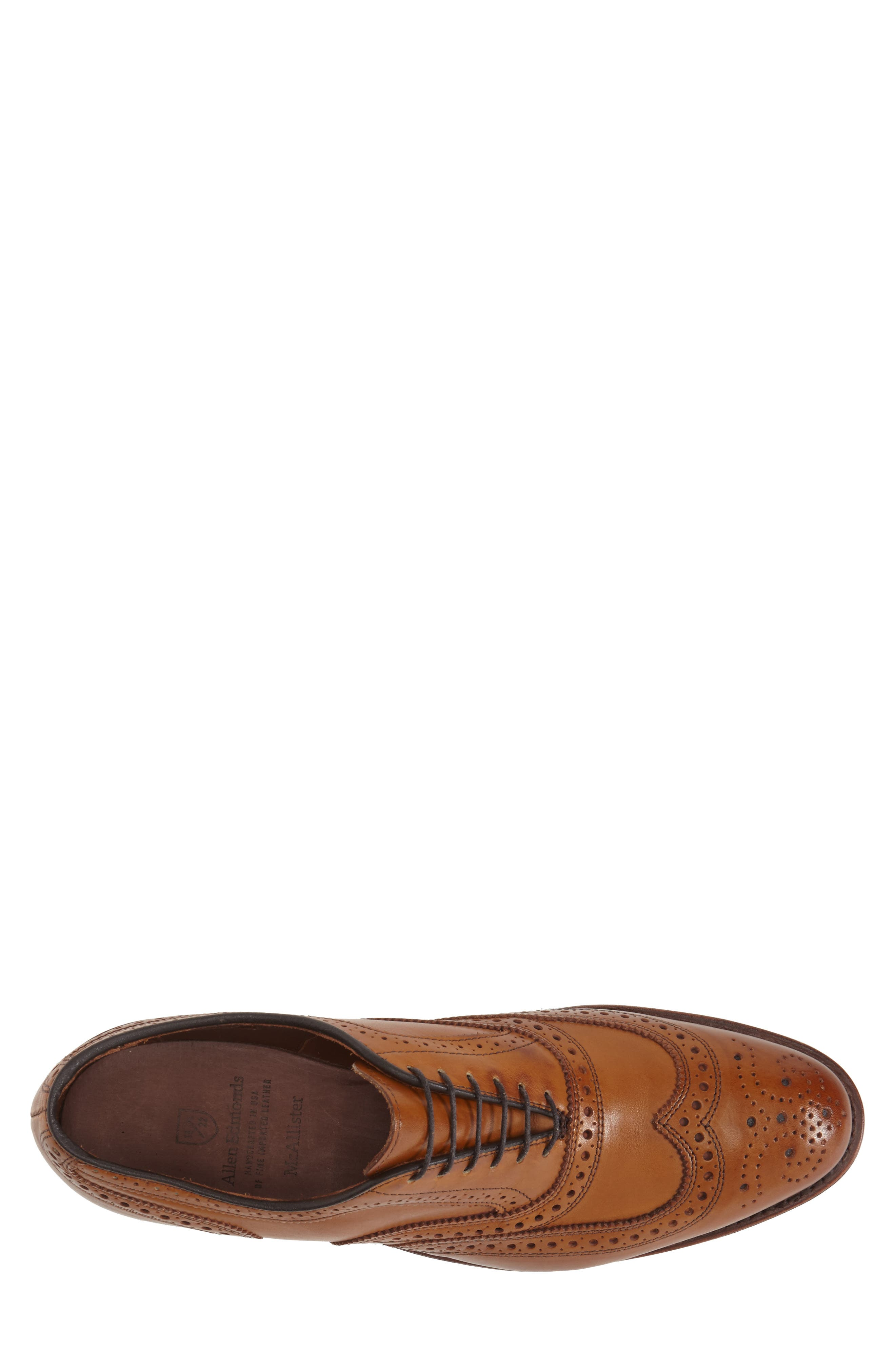 'McAllister' Wingtip,                             Alternate thumbnail 5, color,                             WALNUT LEATHER