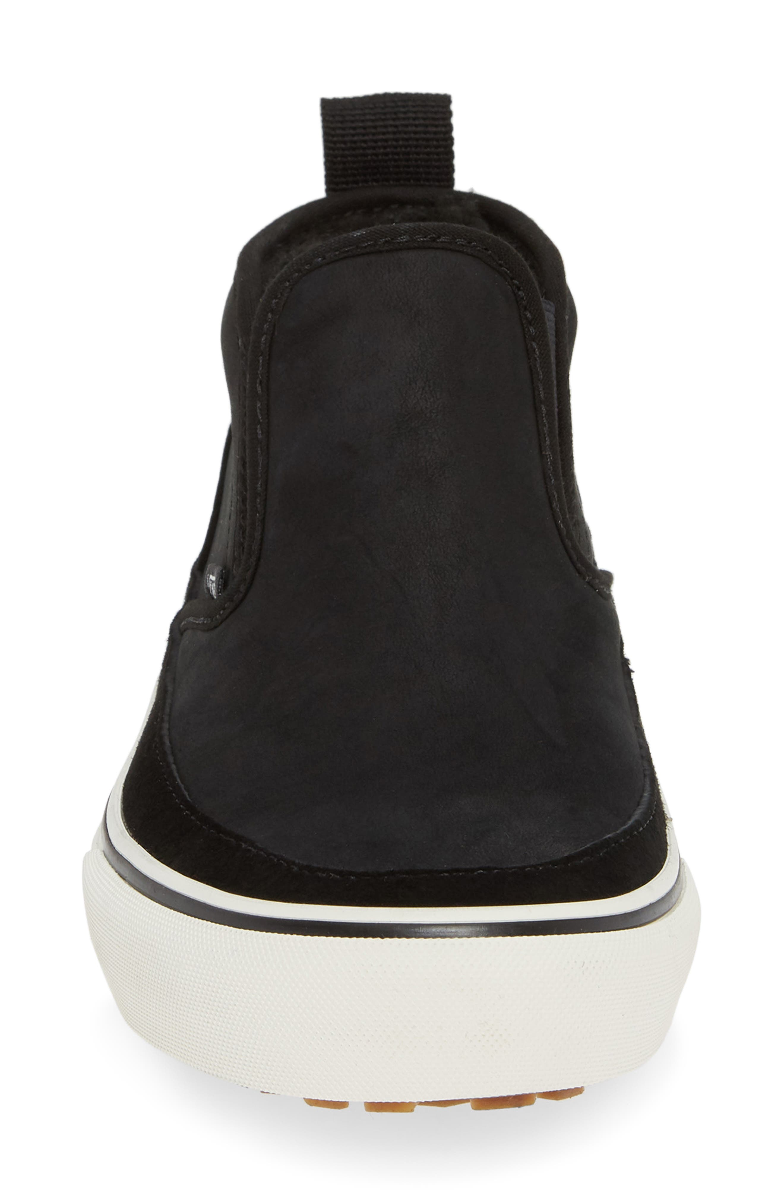 UA Authentic MTE Slip-On Sneaker,                             Alternate thumbnail 4, color,                             BLACK/ MARSHMALLOW