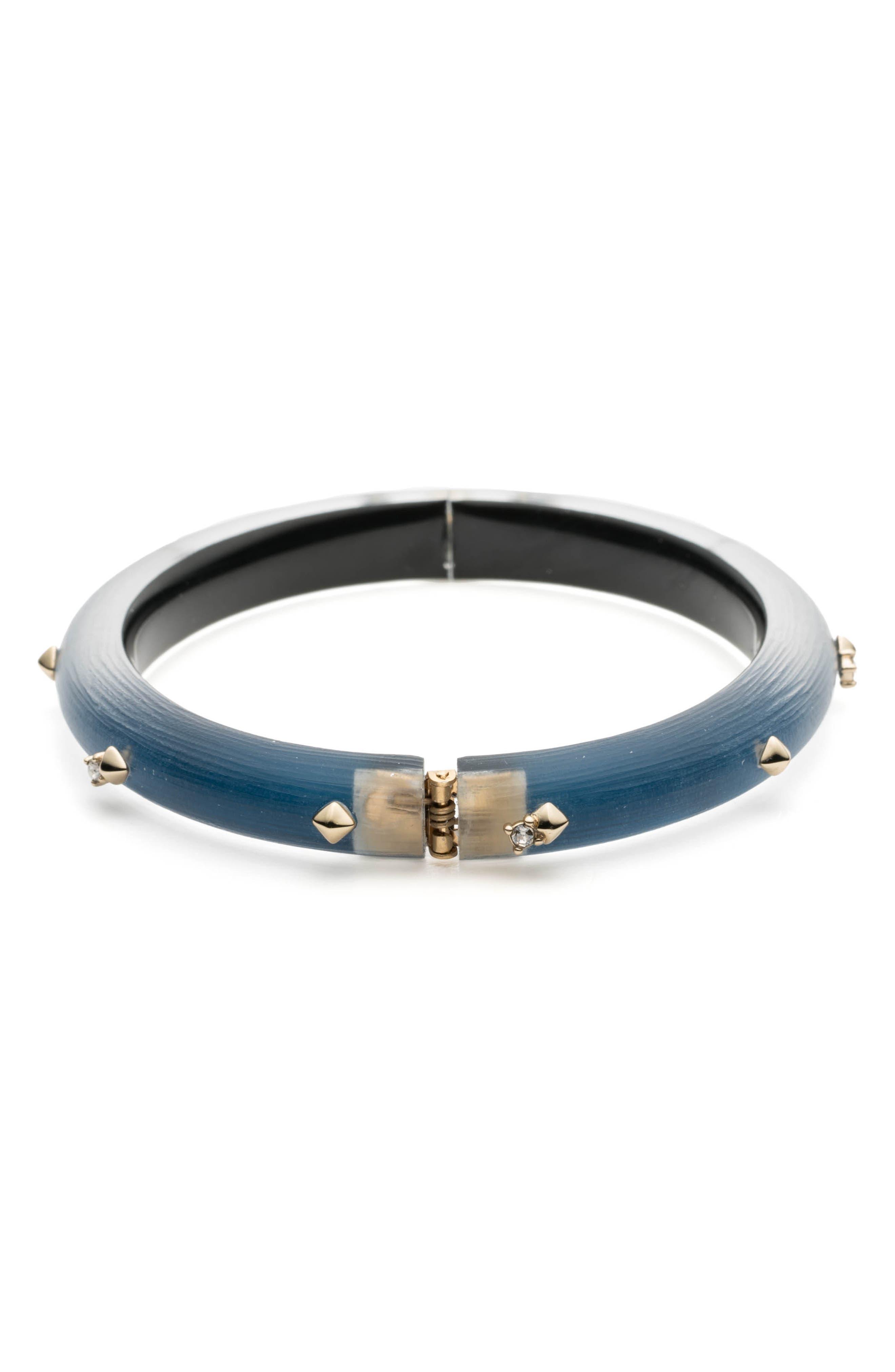 Studded Hinge Bracelet,                             Alternate thumbnail 2, color,                             PACIFIC