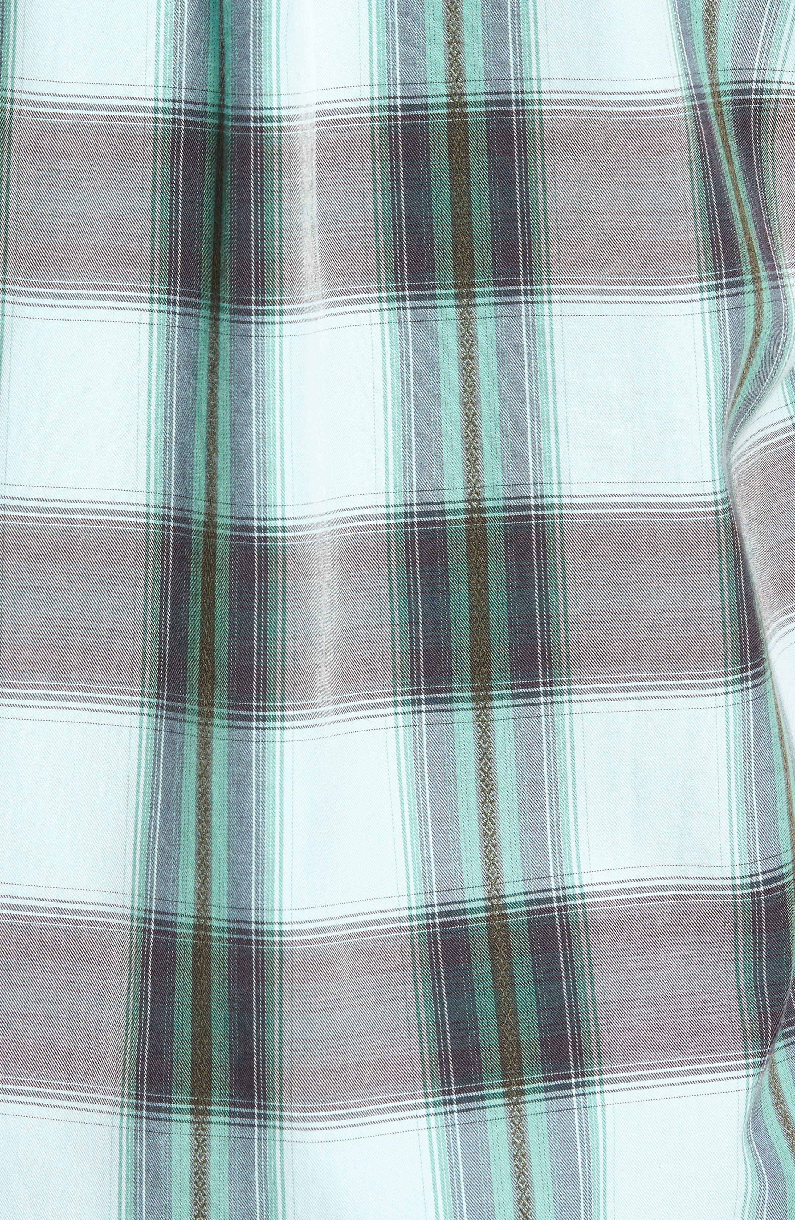 Biscayne Plaid Regular Fit Sport Shirt,                             Alternate thumbnail 5, color,                             350