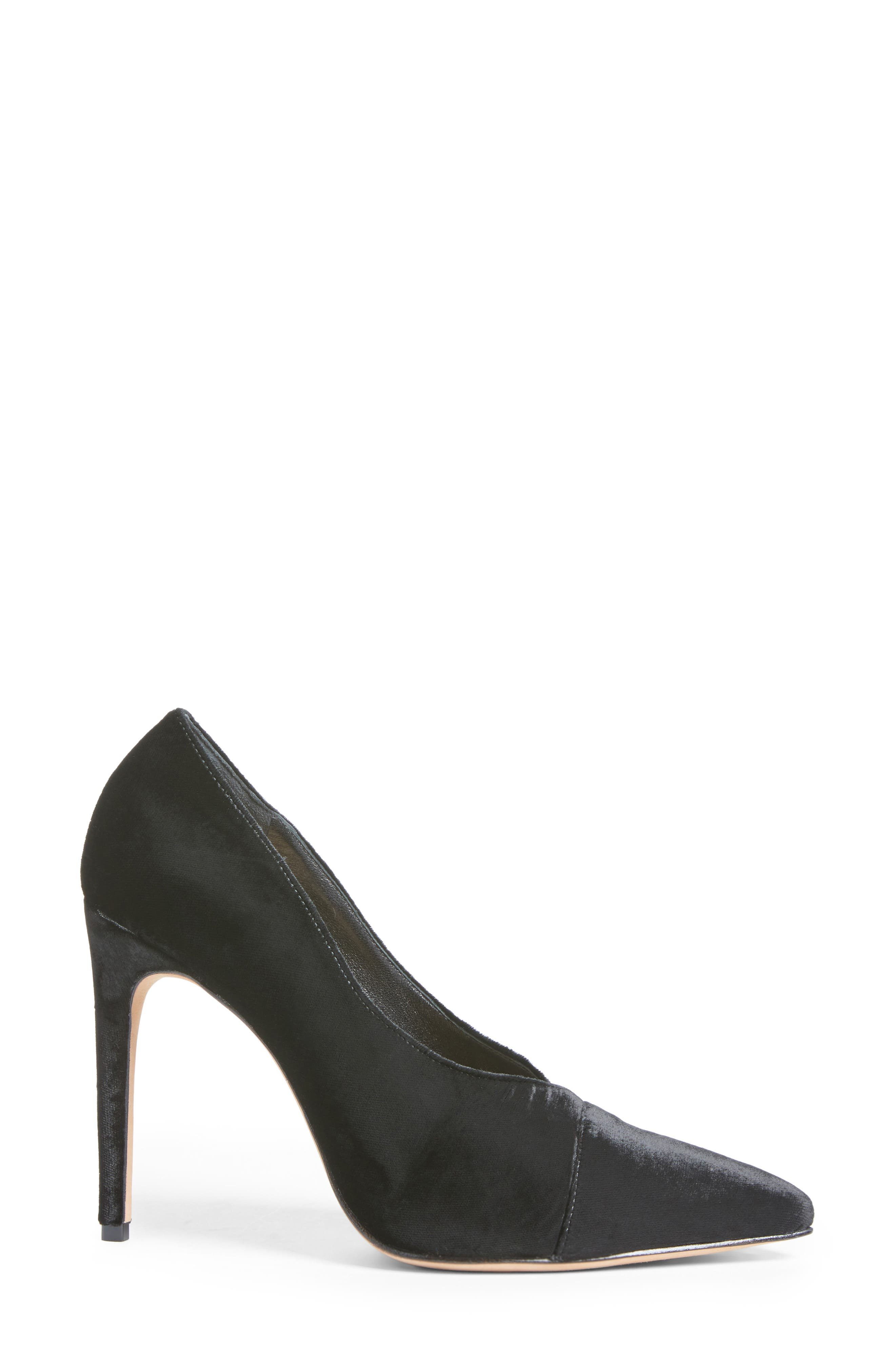 Clarice Pointy Toe Pump,                             Alternate thumbnail 3, color,                             001
