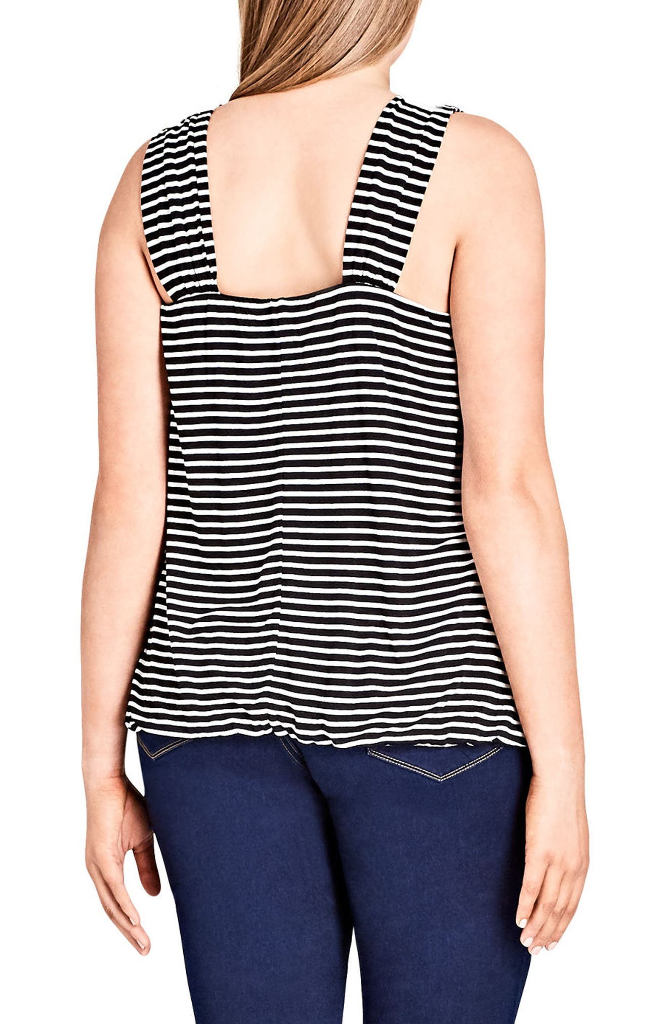 Stripe Bubble Top,                             Alternate thumbnail 2, color,
