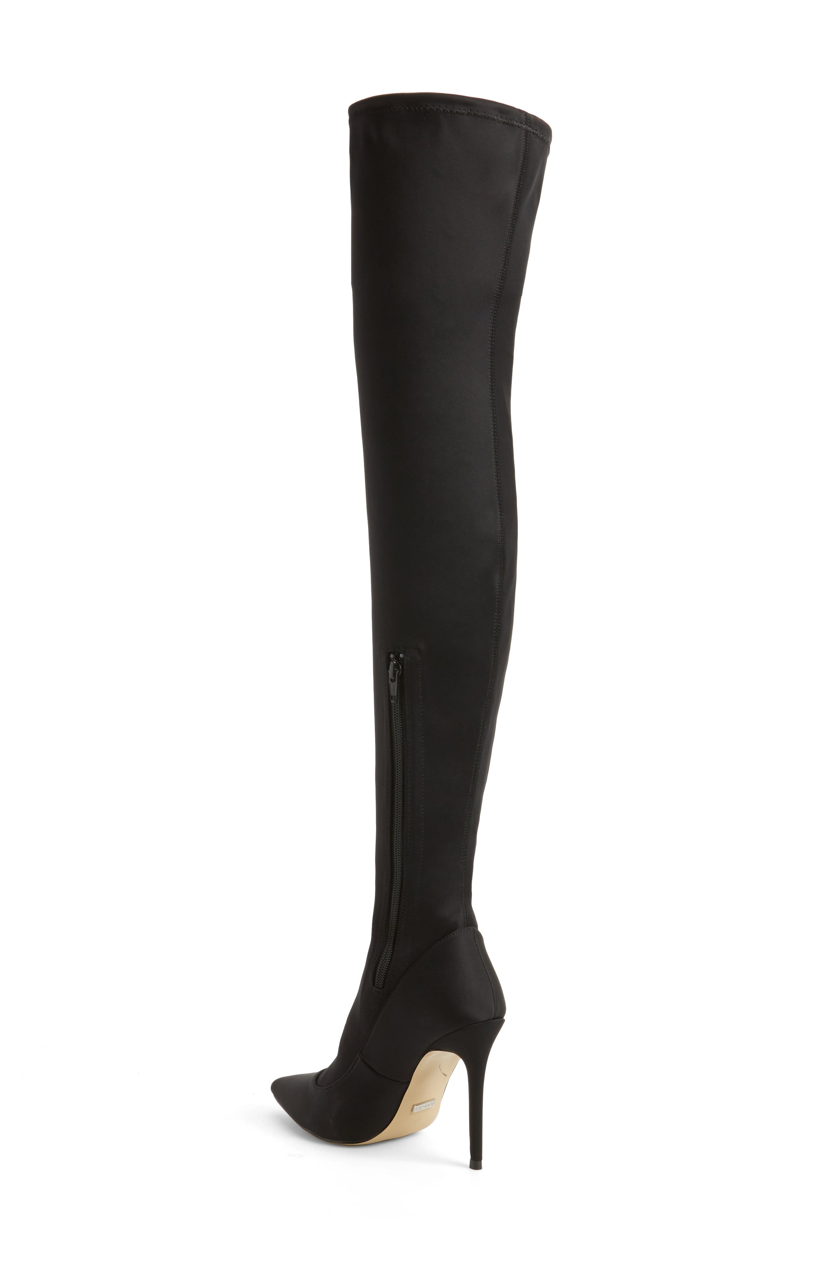 TOPSHOP,                             Bellini Stiletto Over the Knee Boot,                             Alternate thumbnail 2, color,                             001