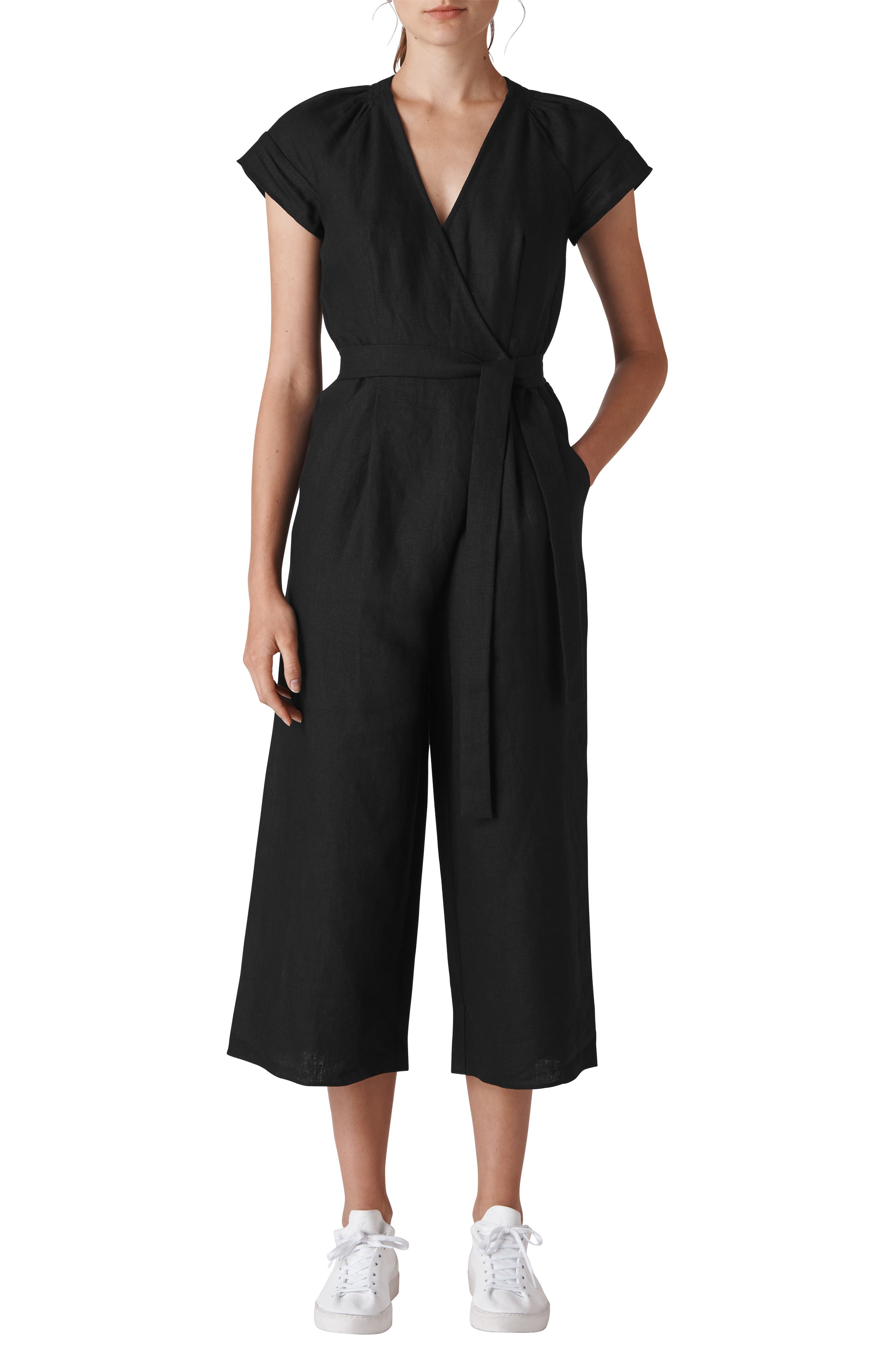 Etta Linen Jumpsuit,                             Main thumbnail 1, color,                             001