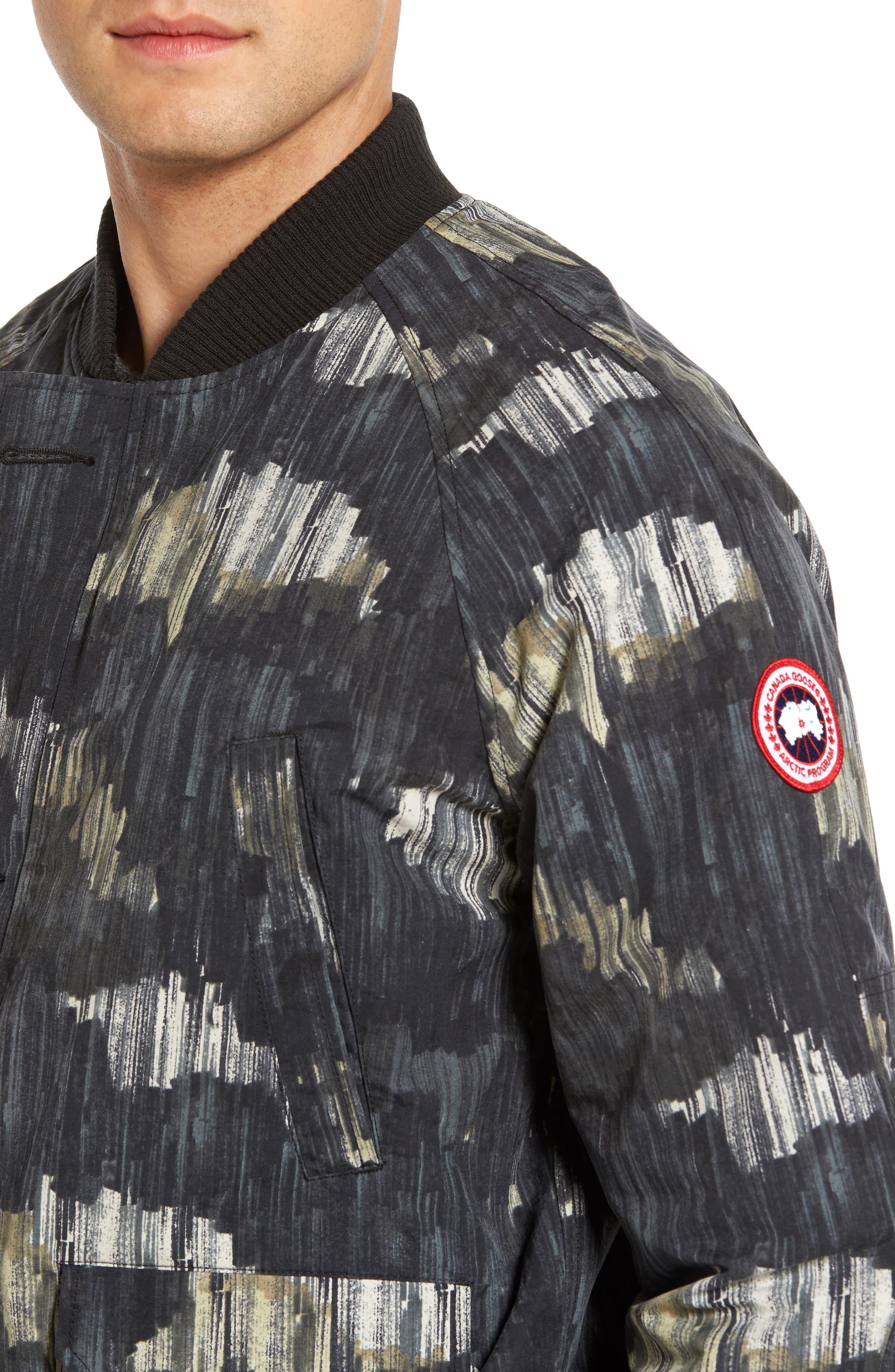 Faber Slim Fit Bomber Jacket,                             Alternate thumbnail 4, color,                             NOCTURNE PRINT