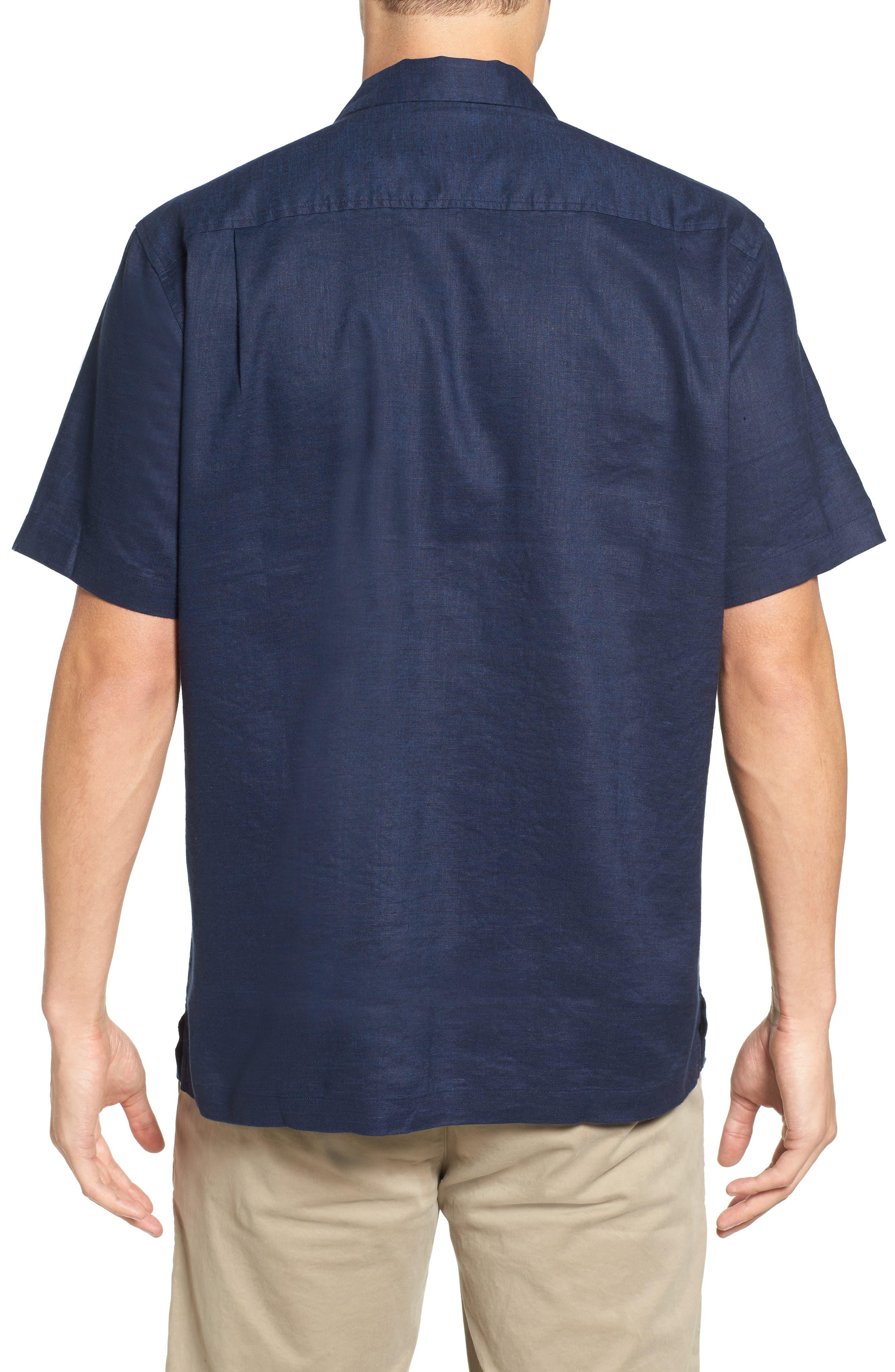 Monaco Tides Standard Fit Linen Blend Camp Shirt,                             Alternate thumbnail 11, color,