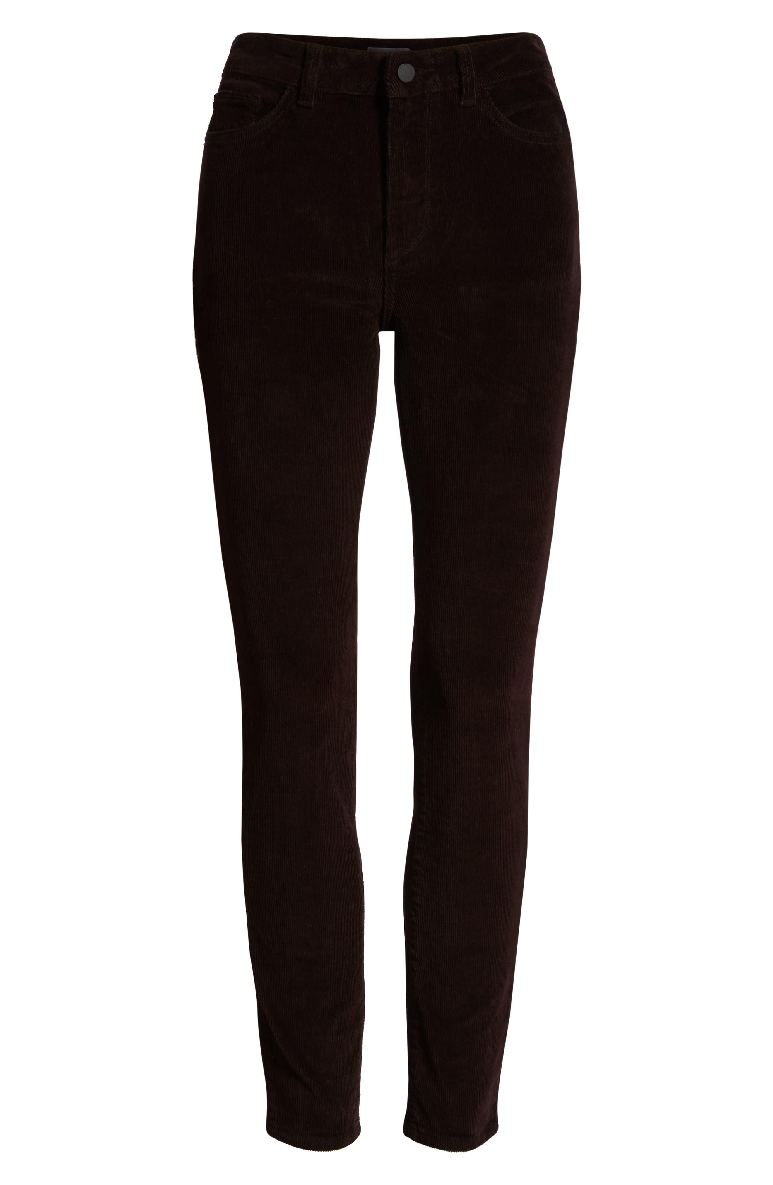 Farrow High Waist Ankle Skinny Corduroy Pants,                             Alternate thumbnail 6, color,                             BIRCH LAKE