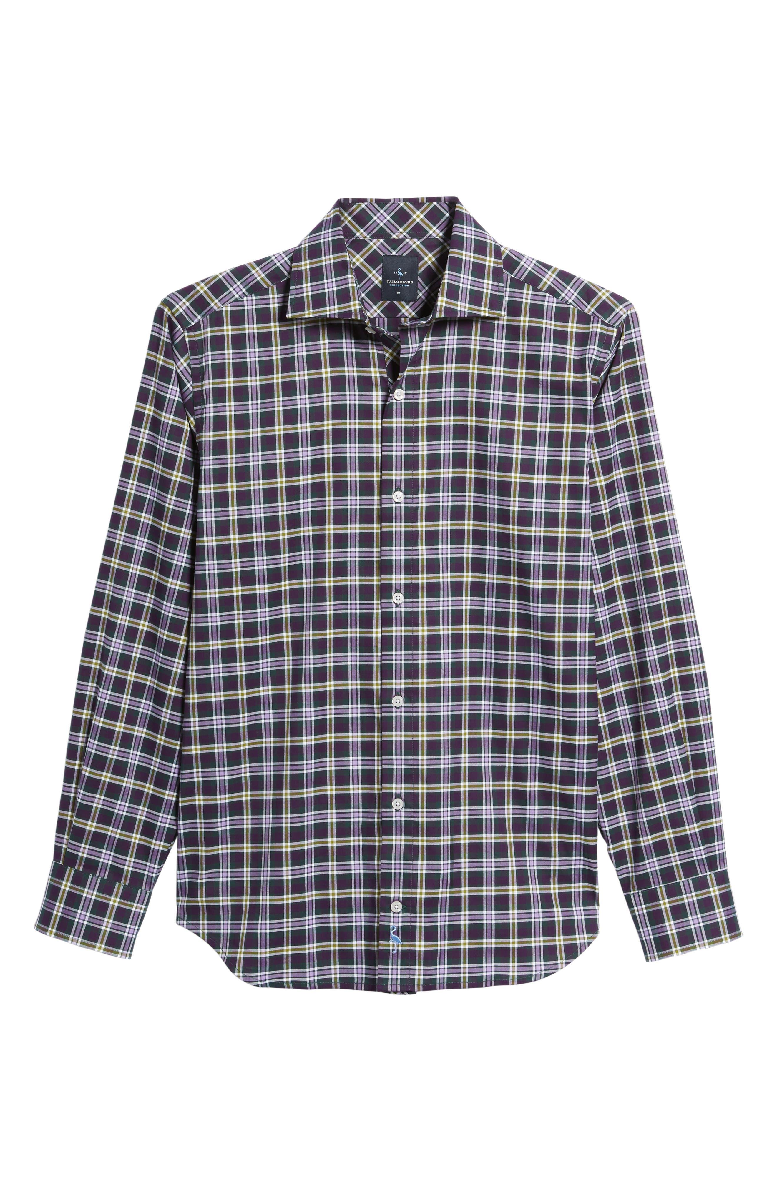 Calhoun Regular Fit Check Sport Shirt,                             Alternate thumbnail 6, color,                             530